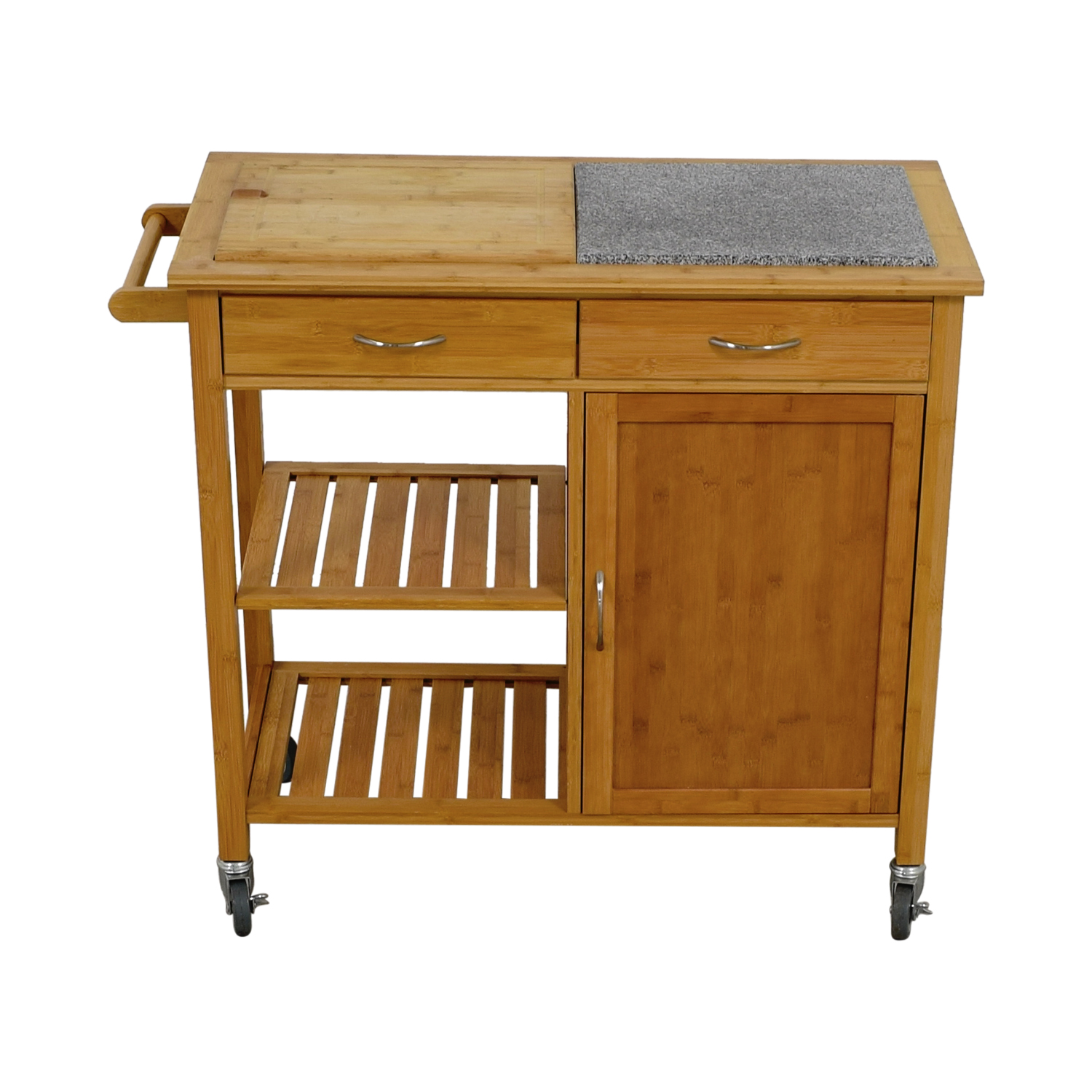 48 Off Linon Home Linon Home Bamboo Rolling Kitchen
