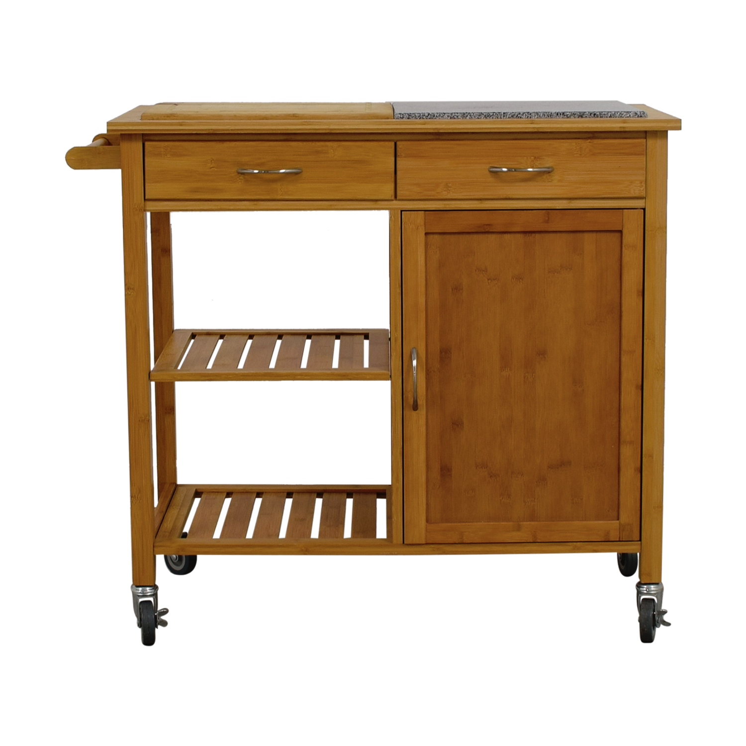 48% OFF - Linon Home Decor Linon Home Bamboo Rolling Kitchen Island / Tables