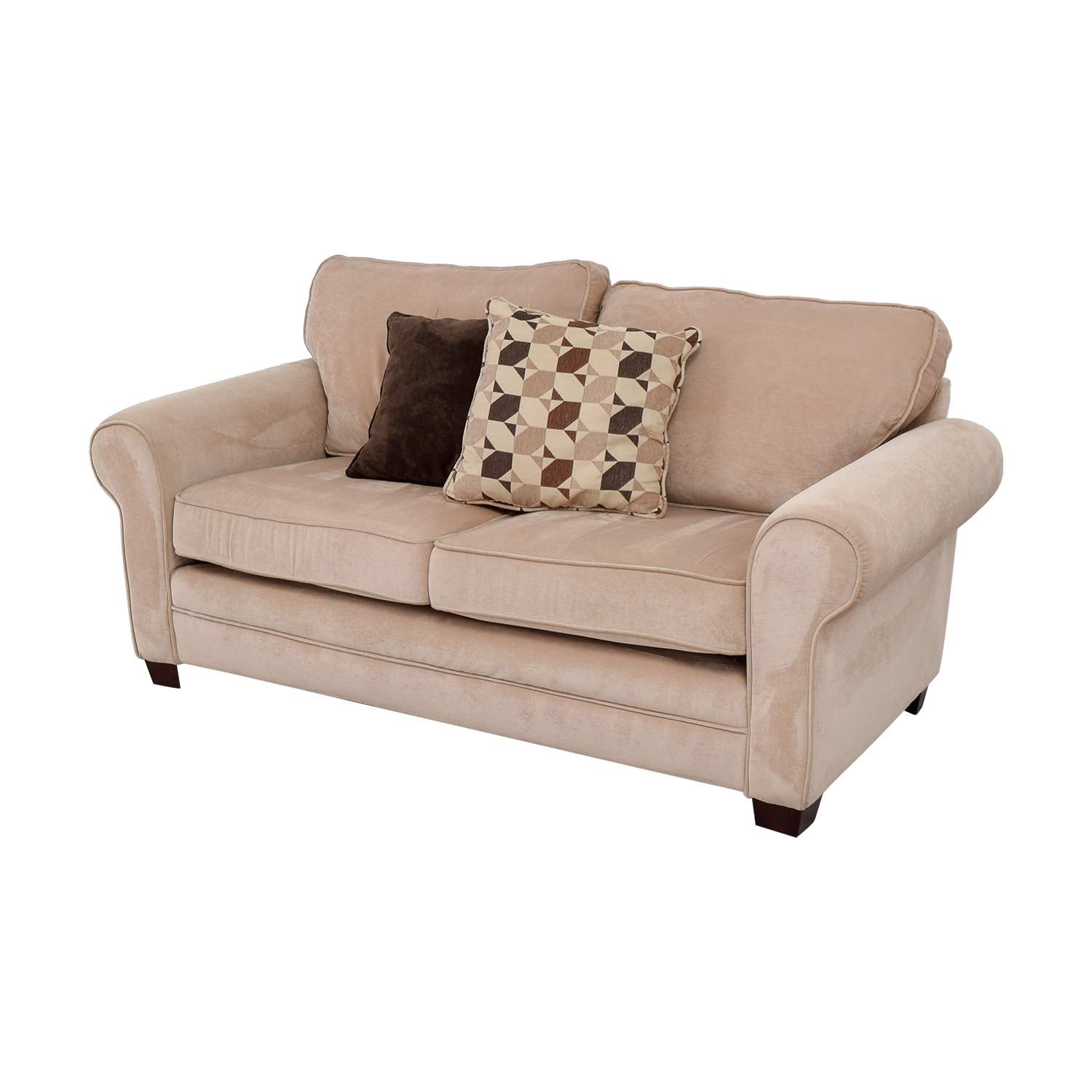 54 Off Bob S Furniture Bob S Furniture Maggie Ii Beige Two Cushion Loveseat Sofas