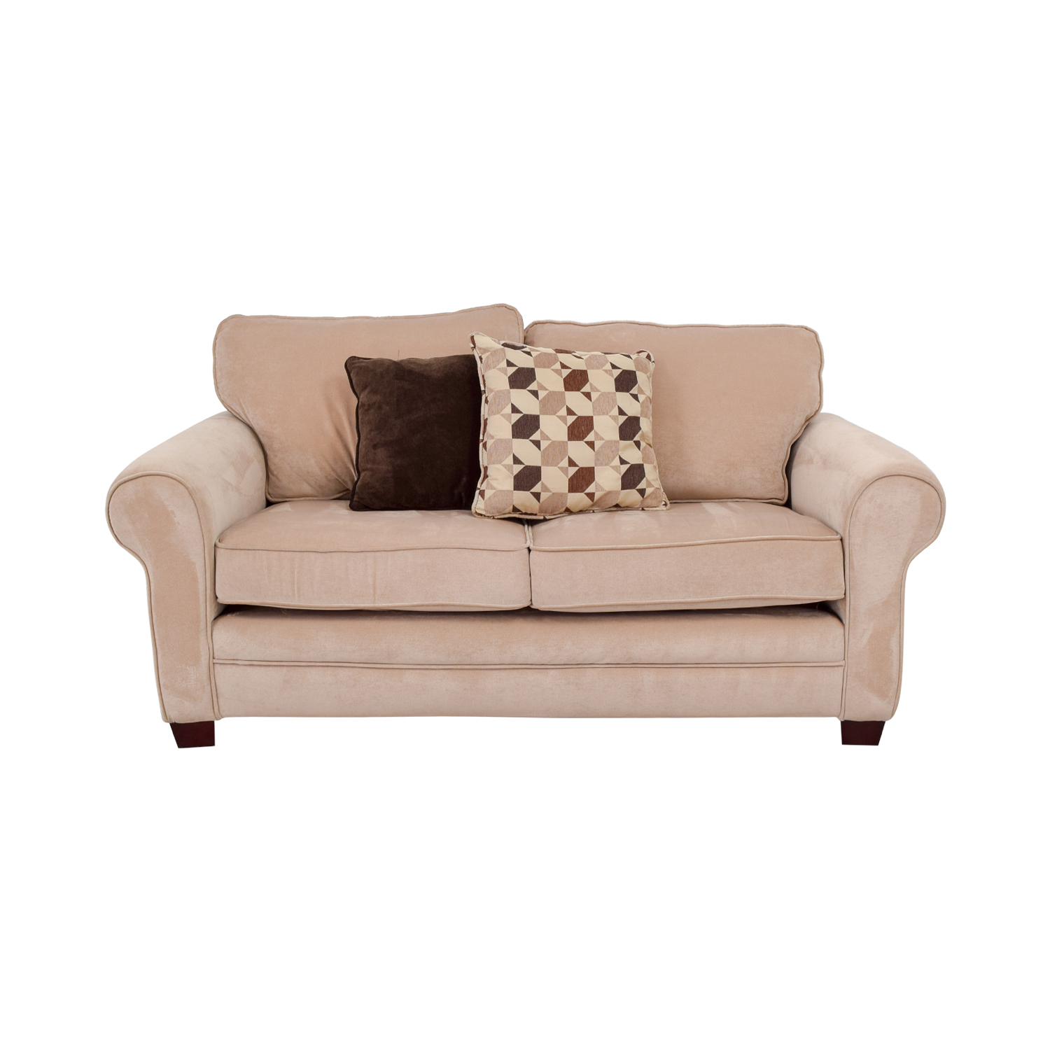 buy Bob's Furniture Maggie II Beige Two-Cushion Loveseat Bob's Furniture