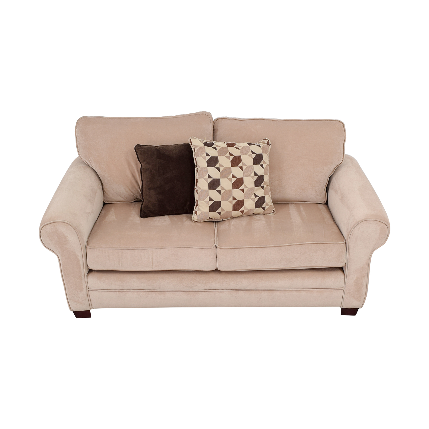 Bob's Furniture Bob's Furniture Maggie II Beige Two-Cushion Loveseat nj