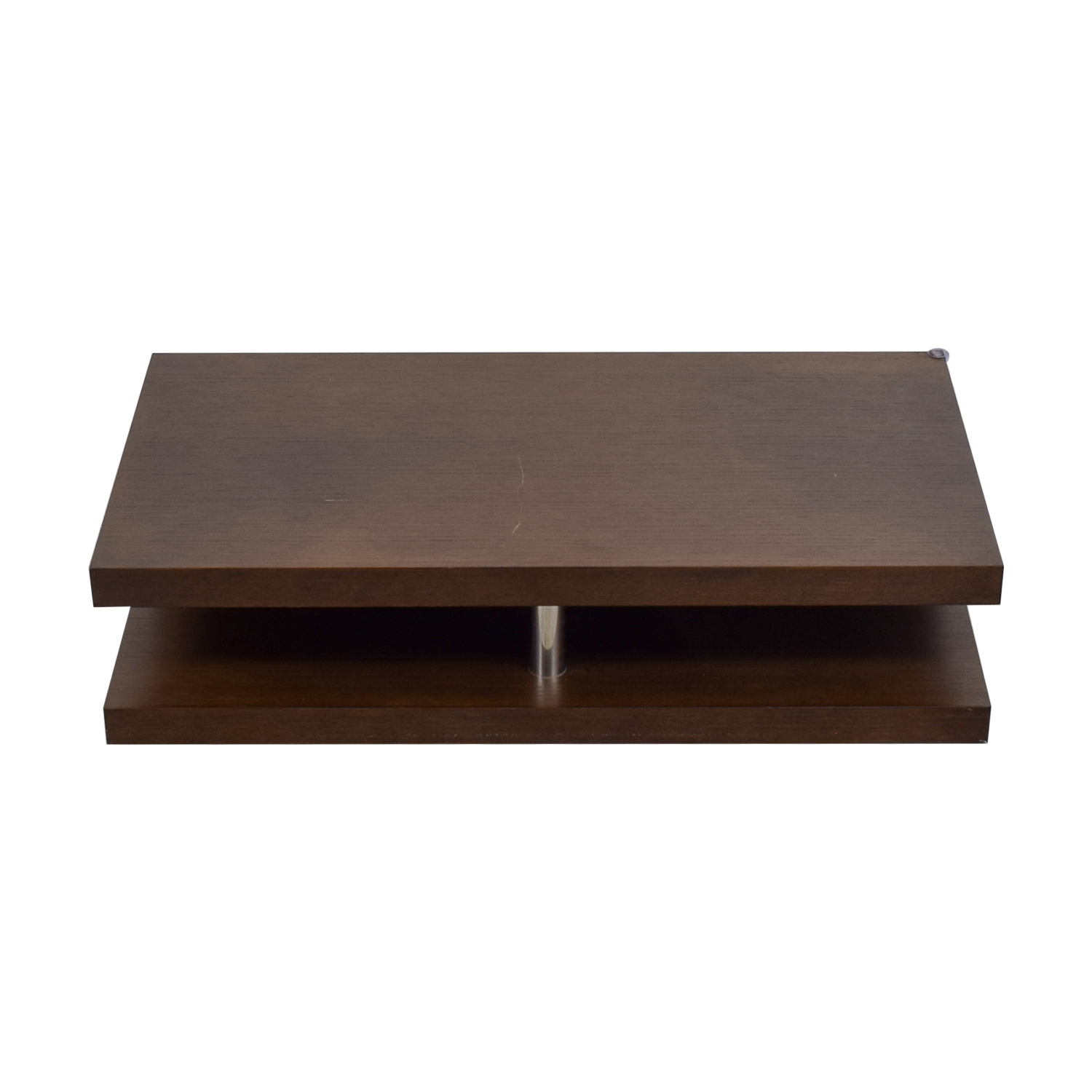 55 Off Brown Coffee Table Tables