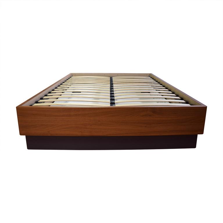 BoConcept Bo Concept Queen Platform Wood Bed Frame with Storage nj