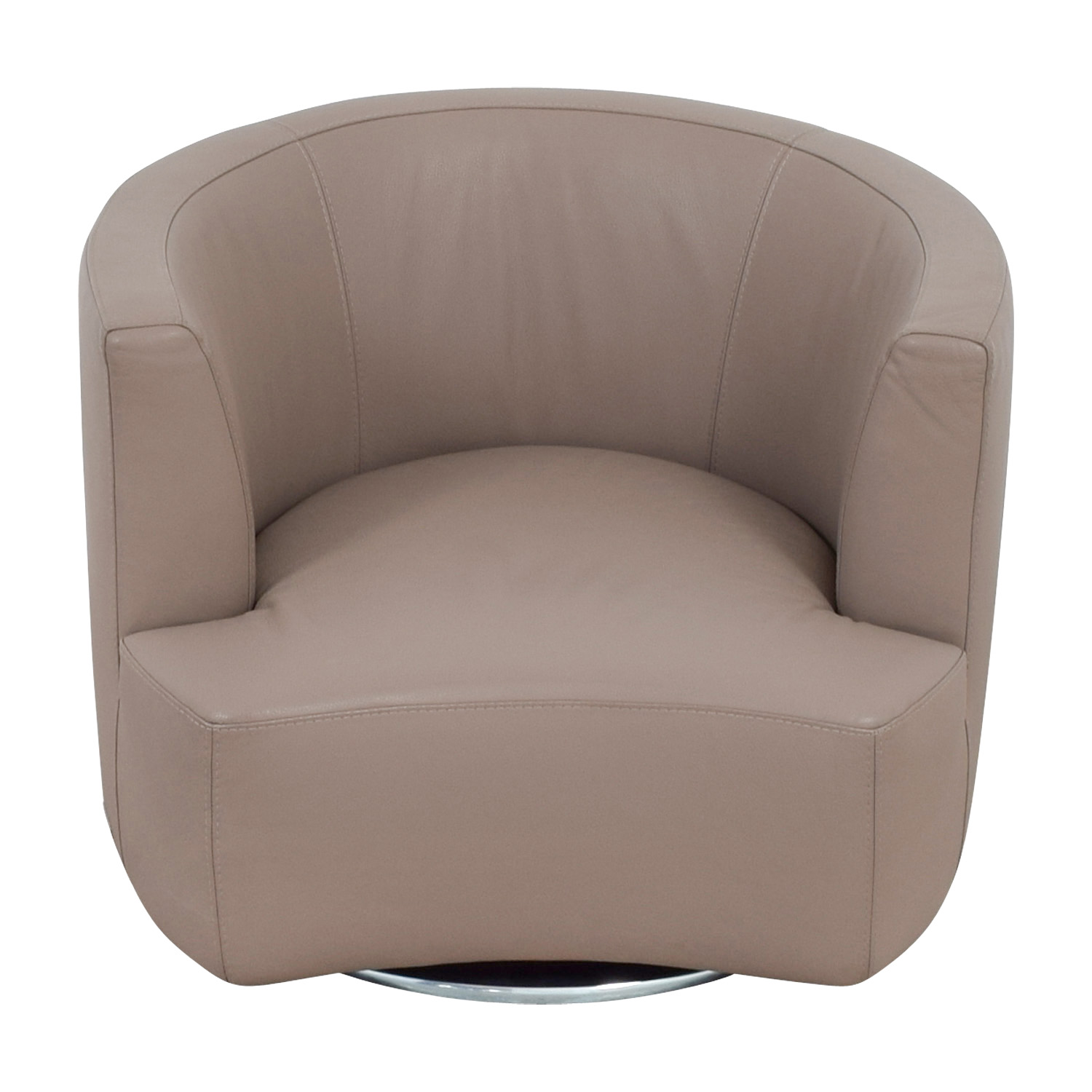 fabulous shop roche bobois tan leather swivel chair roche bobois with roche bobois avignon. Black Bedroom Furniture Sets. Home Design Ideas