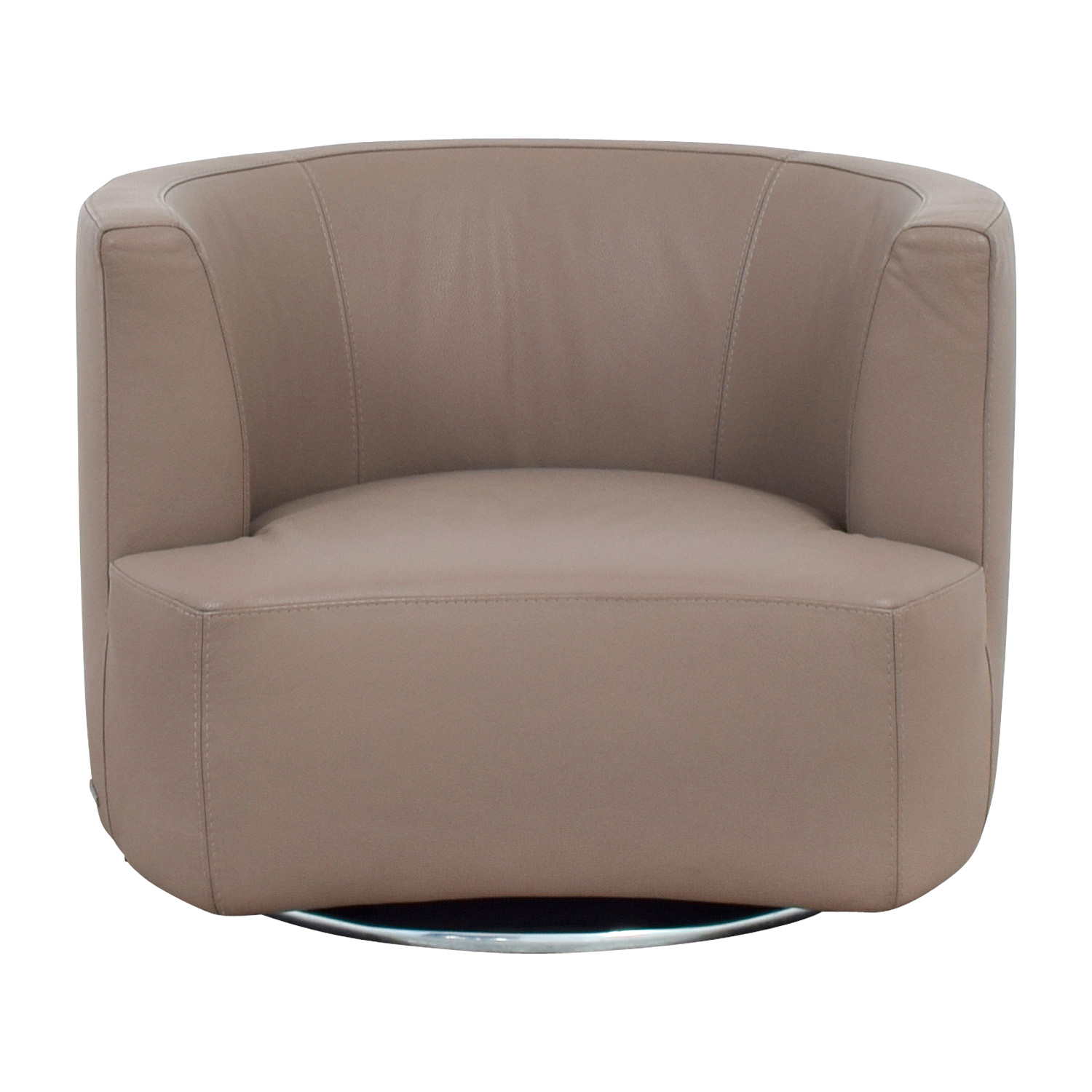 Remarkable 84 Off Roche Bobois Roche Bobois Tan Leather Swivel Chair Chairs Cjindustries Chair Design For Home Cjindustriesco
