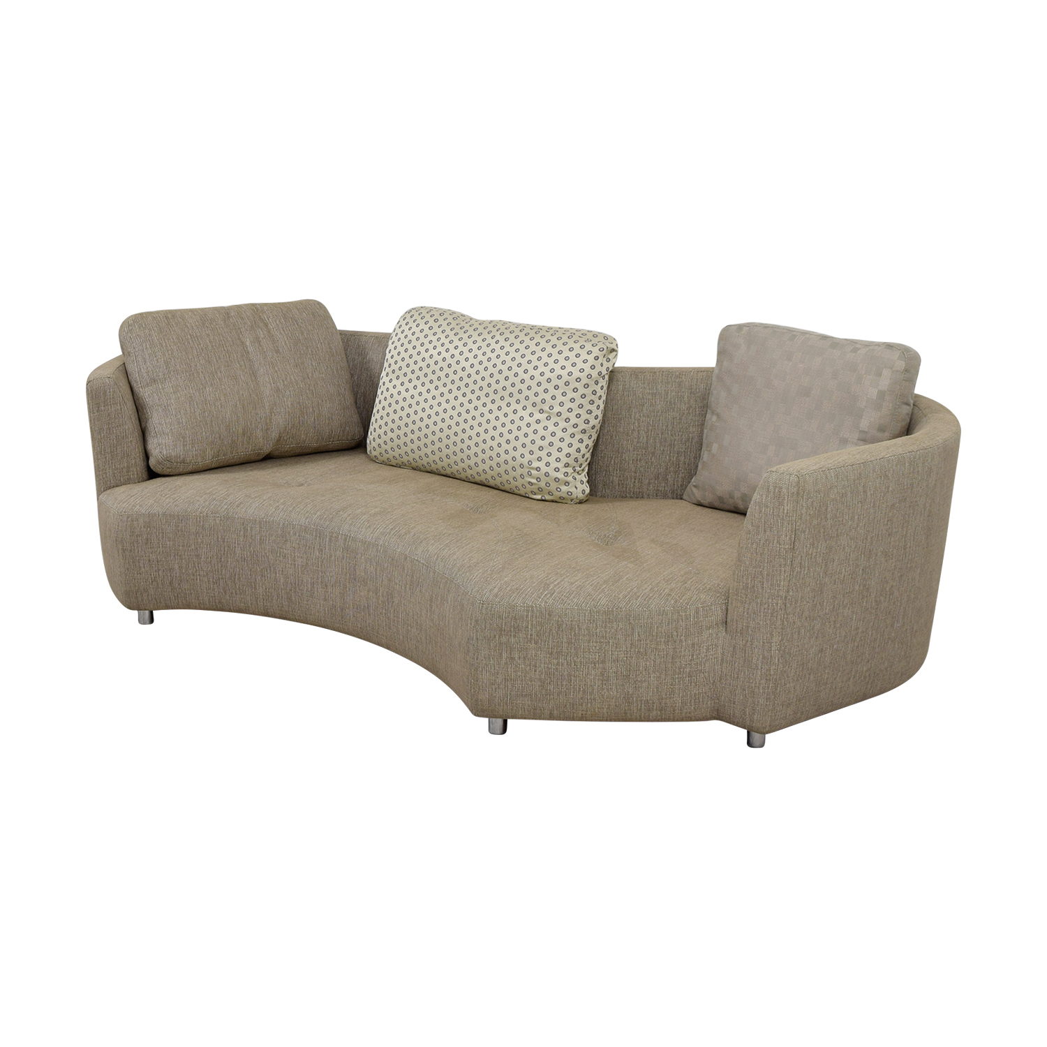 Roche Bobois Three Seater Tan Tweed Sofa Sofas