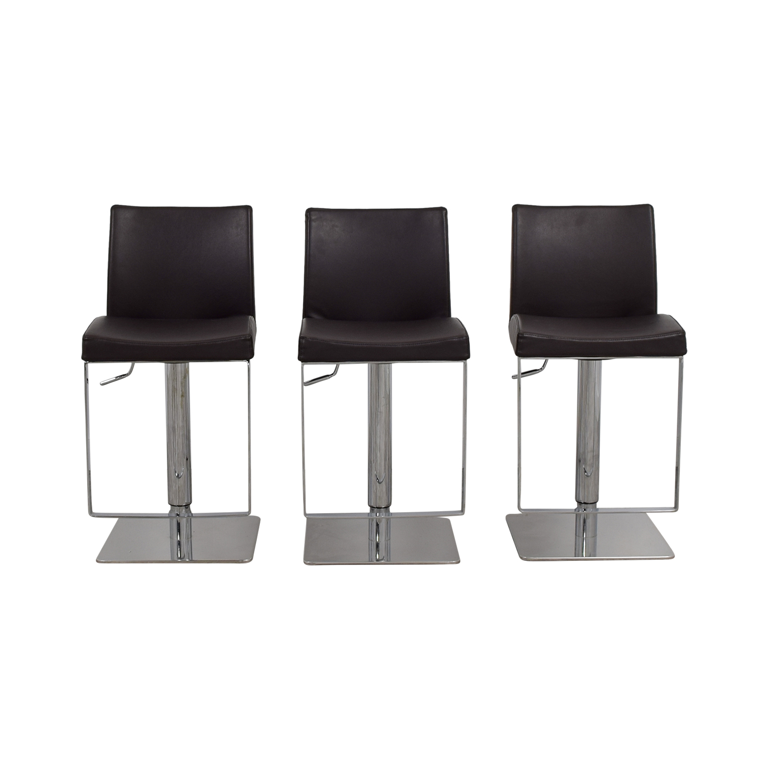 shop Modani Modani Bellagio Brown Leather Adjustable Bar Stools online