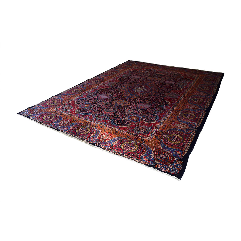 Vespucci Vespucci Antique Persian Multi-Colored Hand Knotted Rug nj