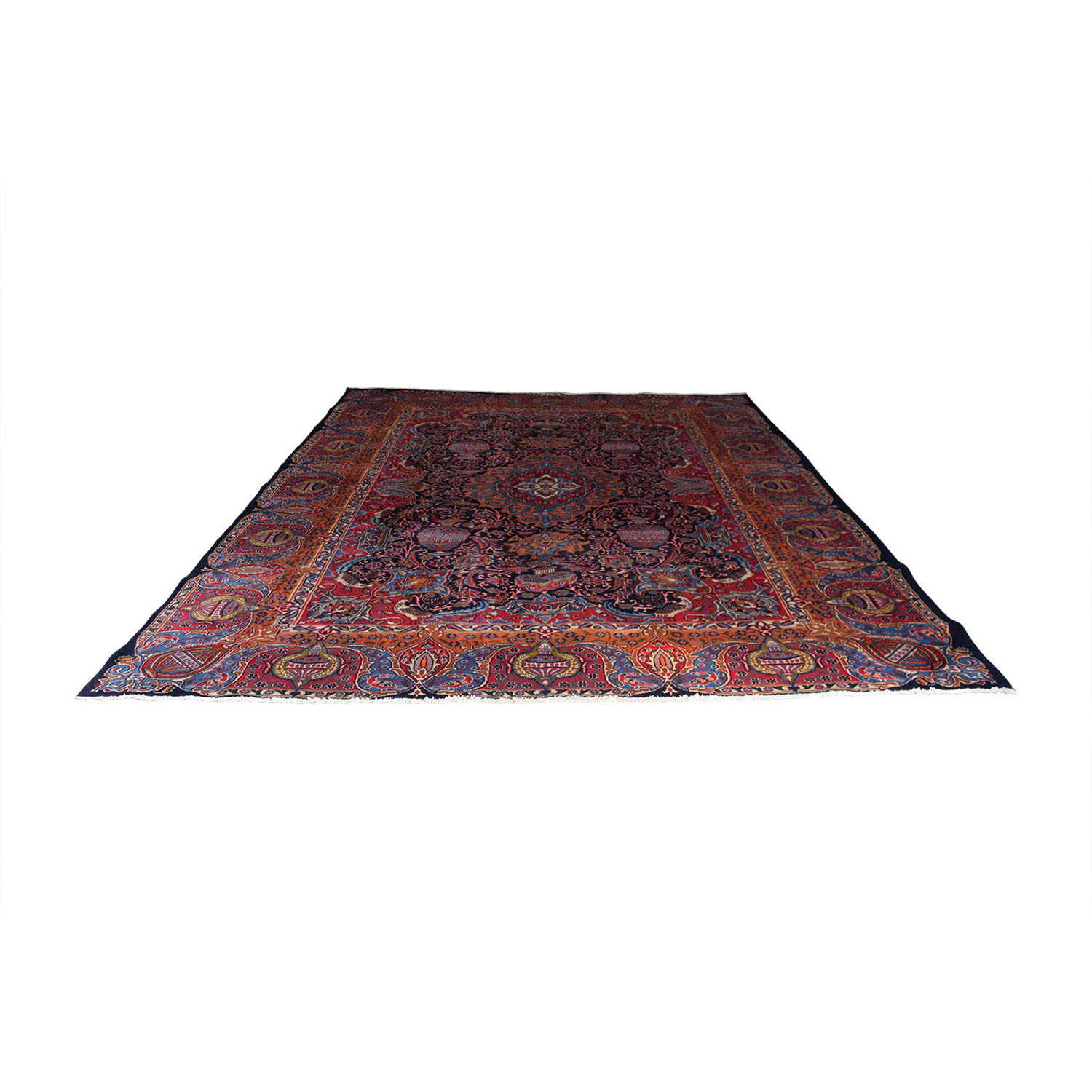 Vespucci Vespucci Antique Persian Multi-Colored Hand Knotted Rug coupon
