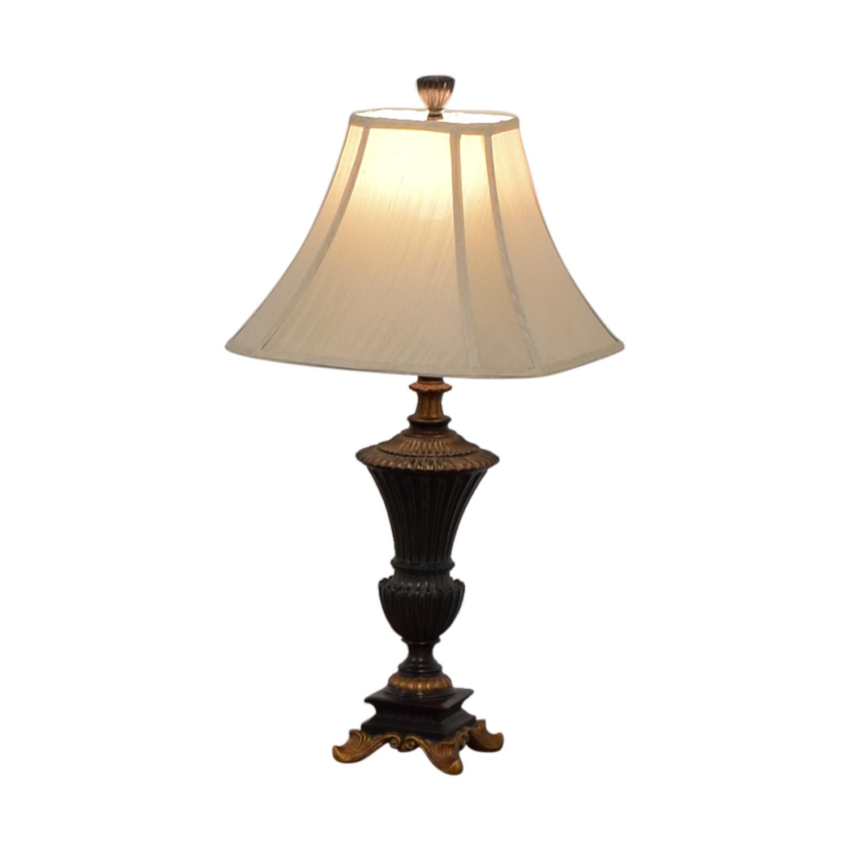 Hampton Bay Hampton Bay Brown and Gold Table Lamp on sale