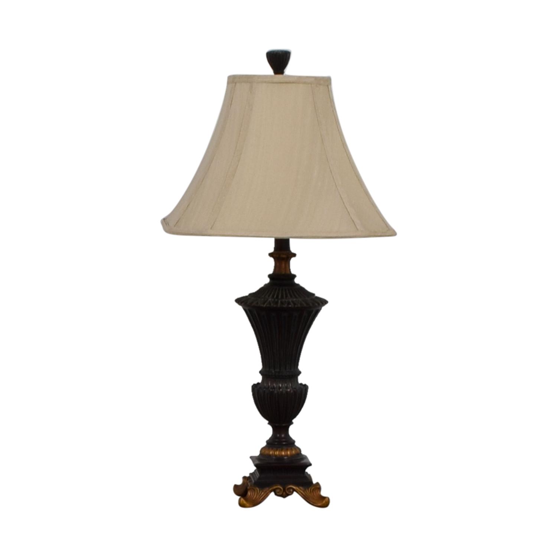 Hampton Bay Hampton Bay Brown and Gold Table Lamp dimensions