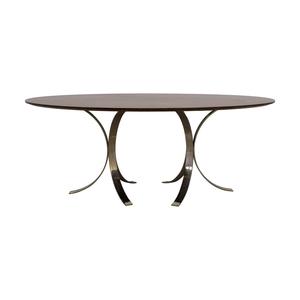 buy Jonathan Adler Oval Wood Table Jonathan Adler