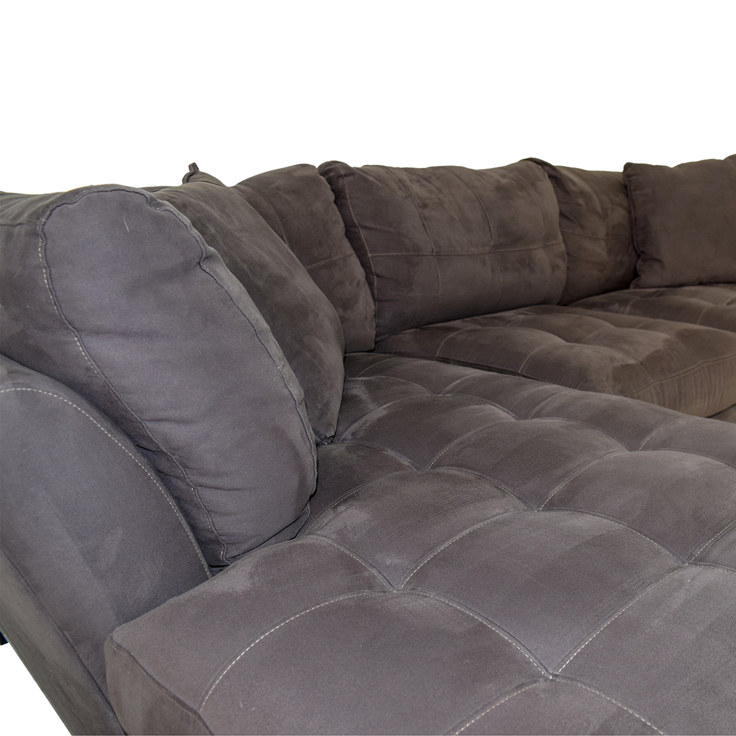 64 Off Raymour Amp Flanigan Raymour Amp Flanigan Cindy Crawford Home Metropolis 2 Piece Microfiber Sectional Sofas