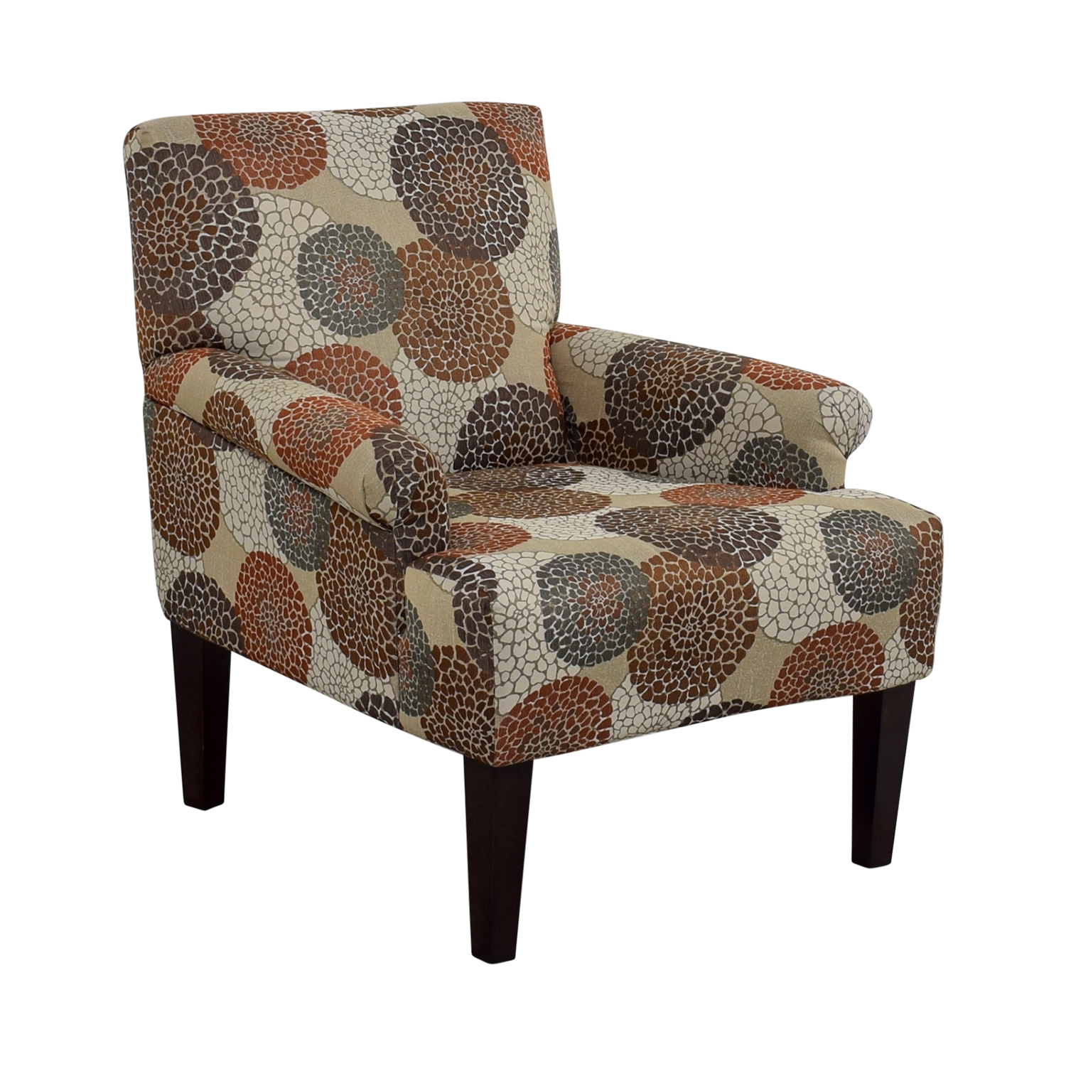 ... Raymour U0026 Flanigan Raymour U0026 Flanigan Multi Colored Floral Accent Chair  Multi Colored ...