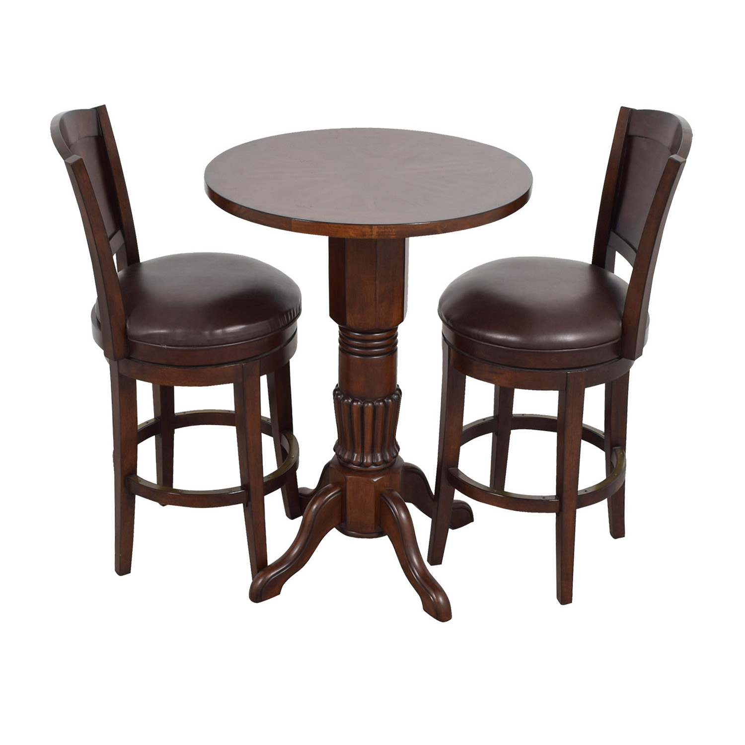 Raymour & Flanigan Raymour & Flanigan Pub Table and Stools Set dimensions