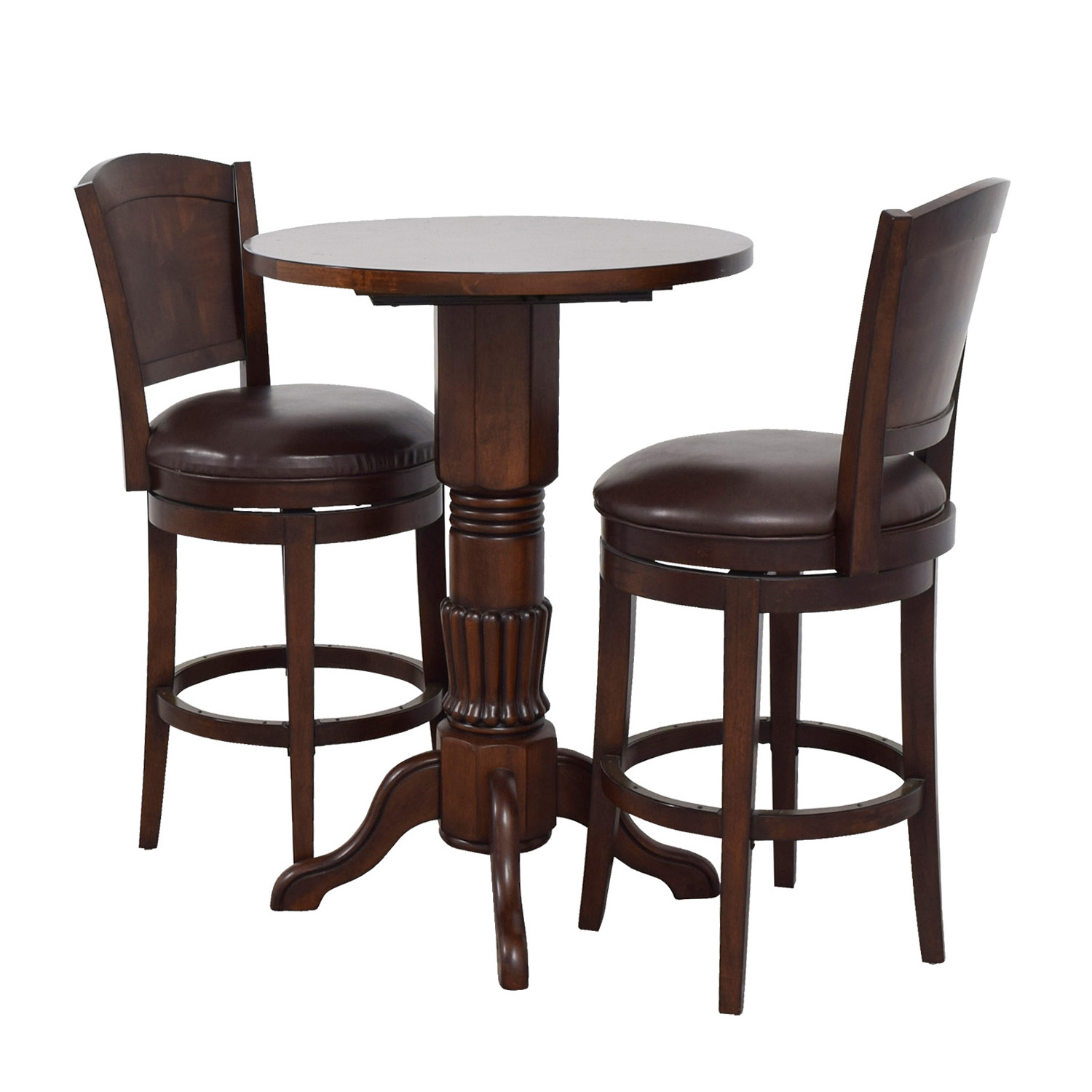 Table And Stools Sets: Raymour & Flanigan Raymour & Flanigan Pub Table