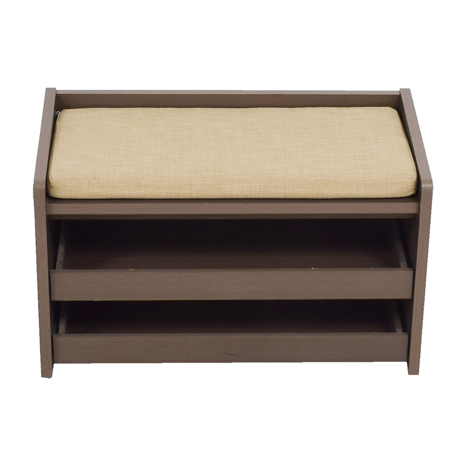 The Container Store The Container Store Mercer Grey Entryway Storage Bench on sale