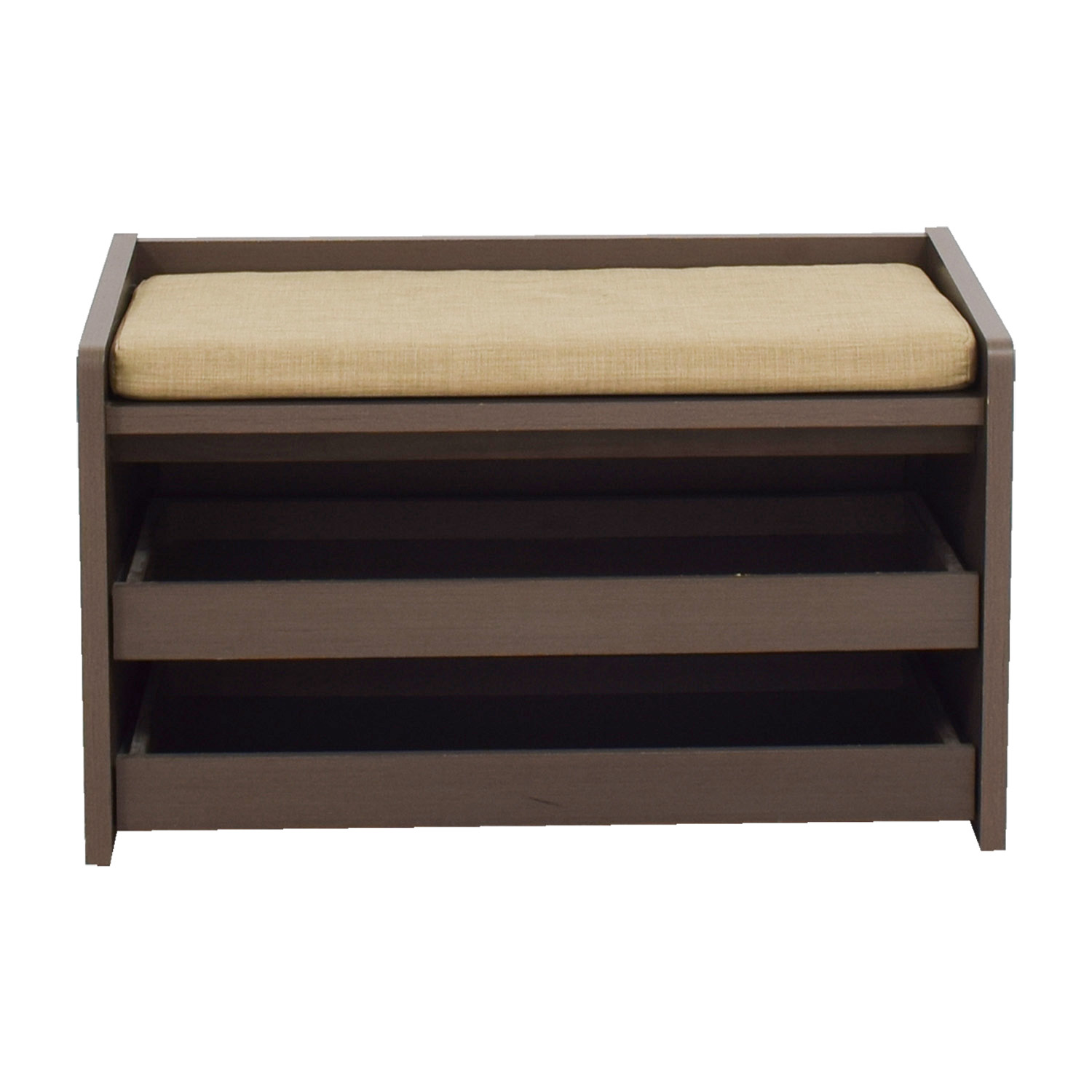 The Container Store The Container Store Mercer Grey Entryway Storage Bench  Dimensions ...