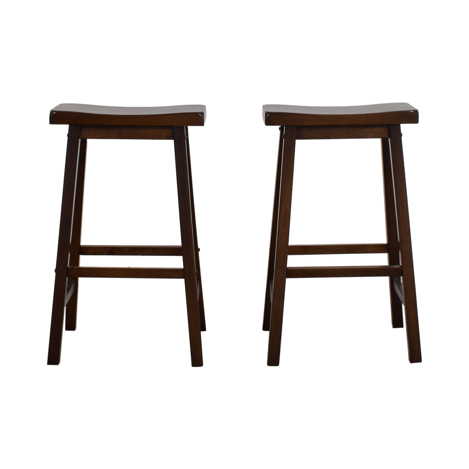 Curved Seat Wood Stools
