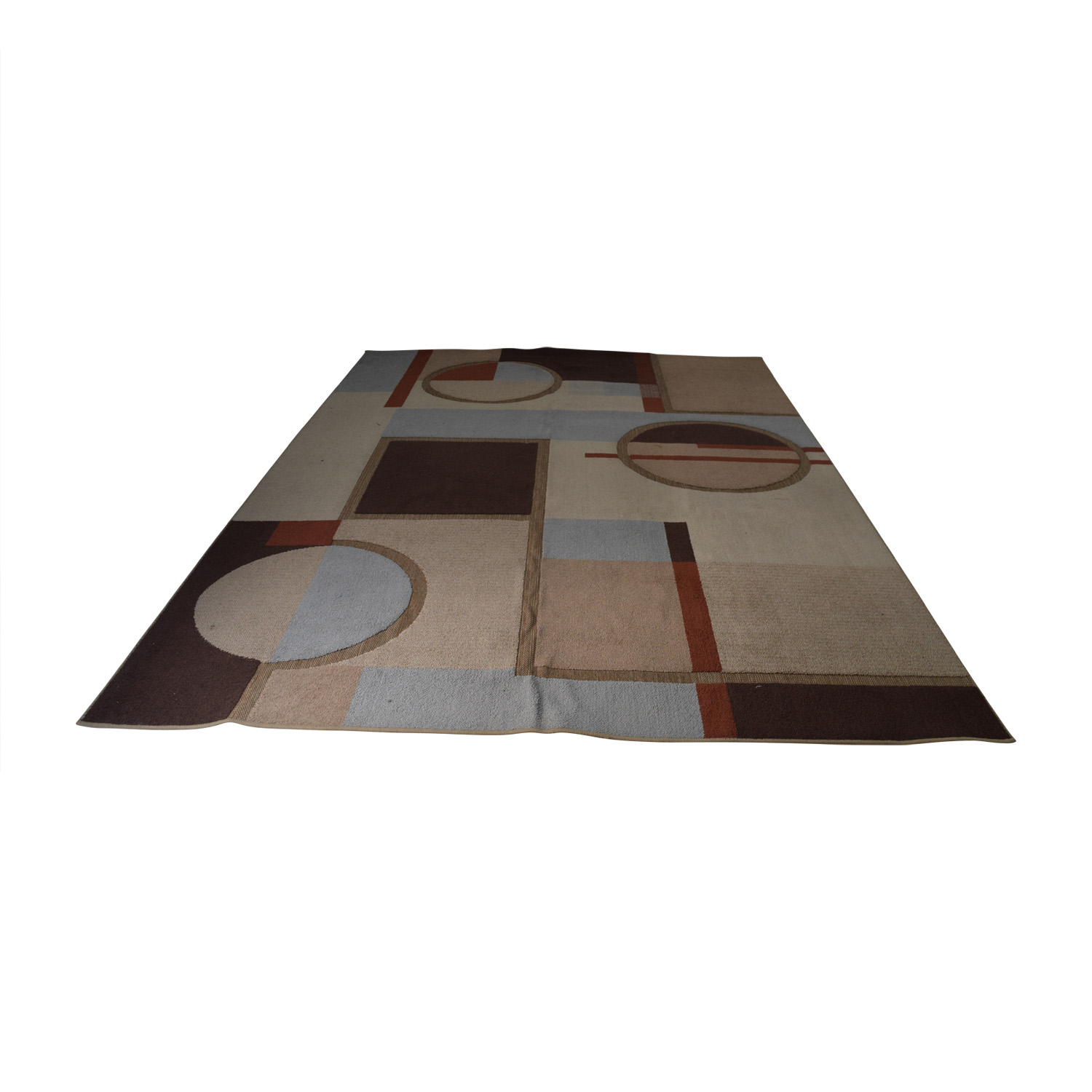 shop Tan Amber and Light Blue Rug