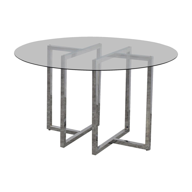 shop CB2 CB2 Silverado Round Chrome and Glass Table online