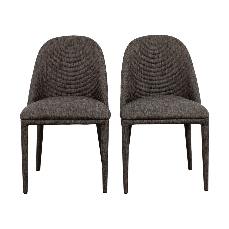 Mercury Row Mercury Row Artrip Grey Upholstered Dining Chairs Chairs