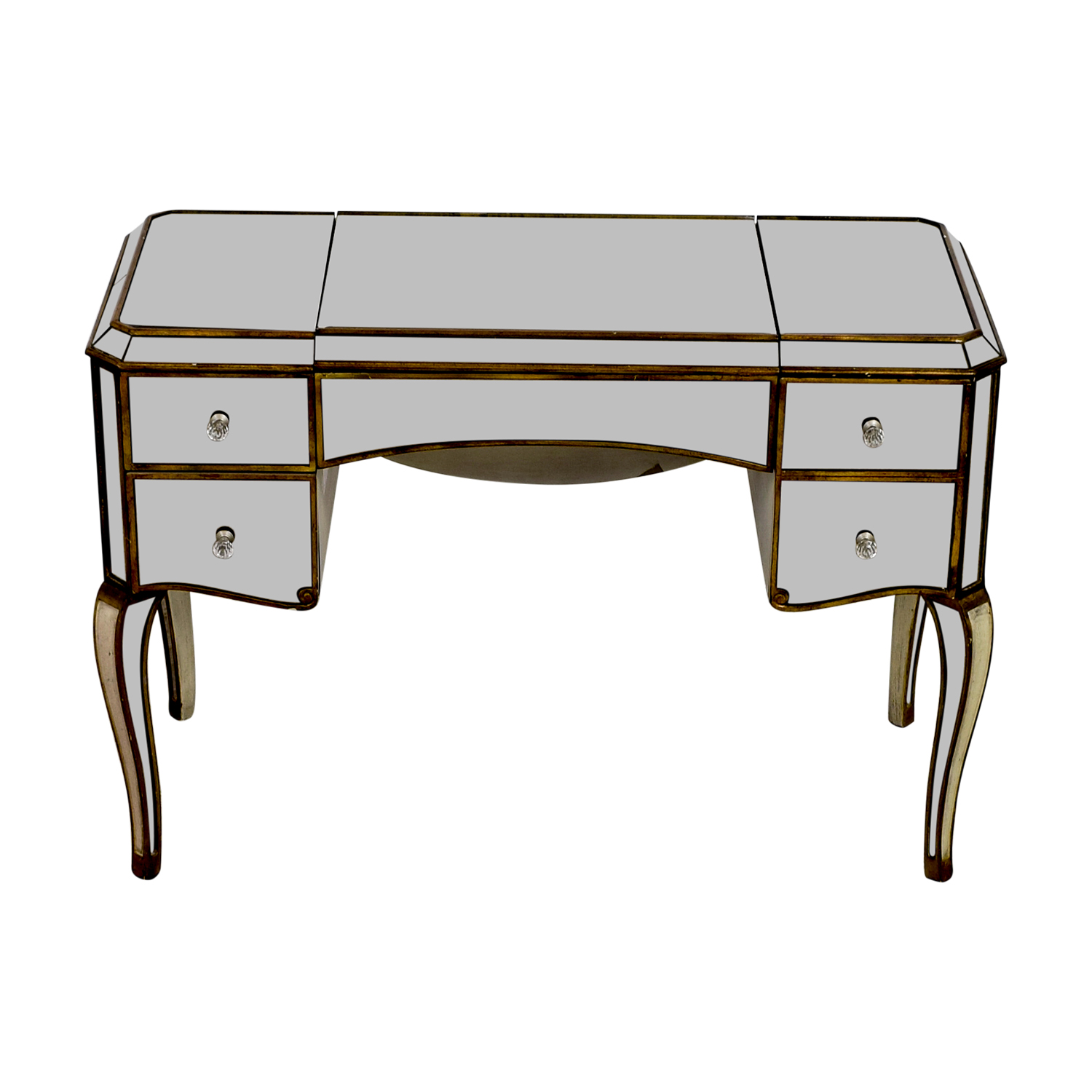 shop Horchow Claudia Mirrored Desk Horchow Tables