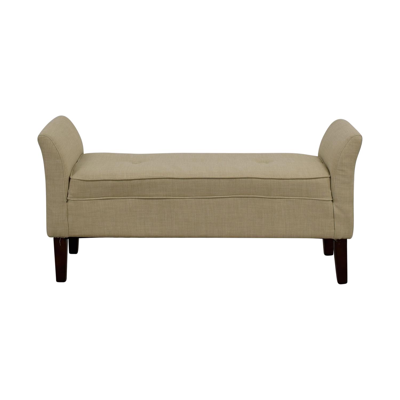 Threshold Threshold Beige Settee Bench on sale