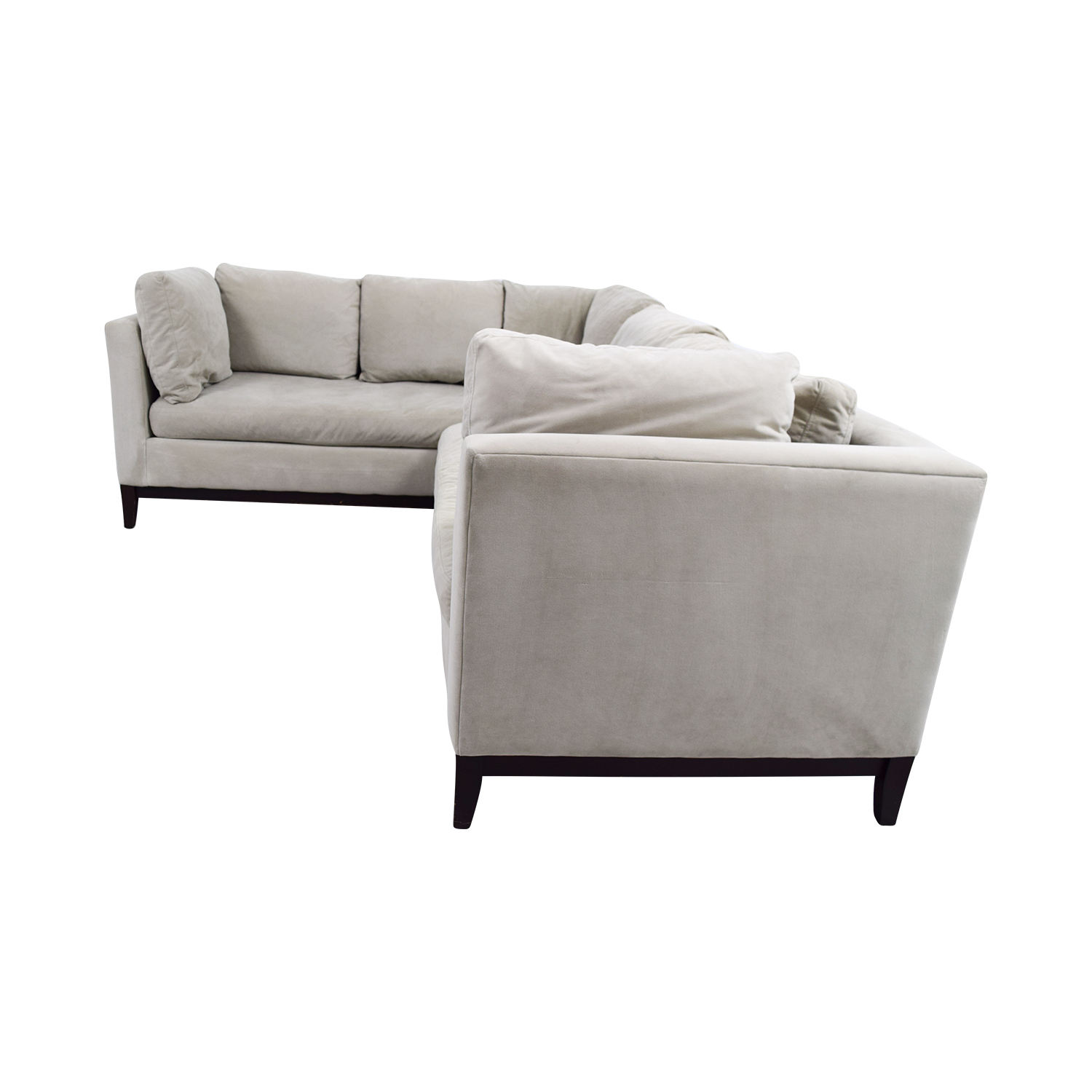 West Elm West Elm Beige L-Shaped Sectional dimensions