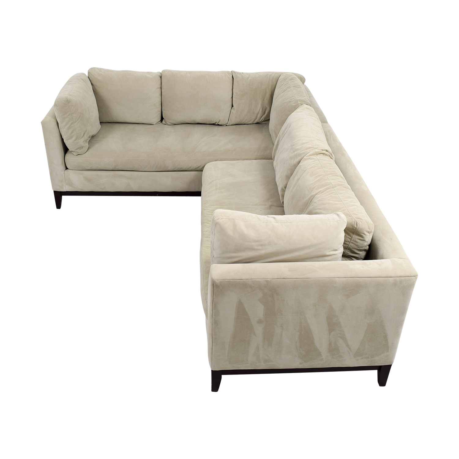buy West Elm Beige L-Shaped Sectional West Elm