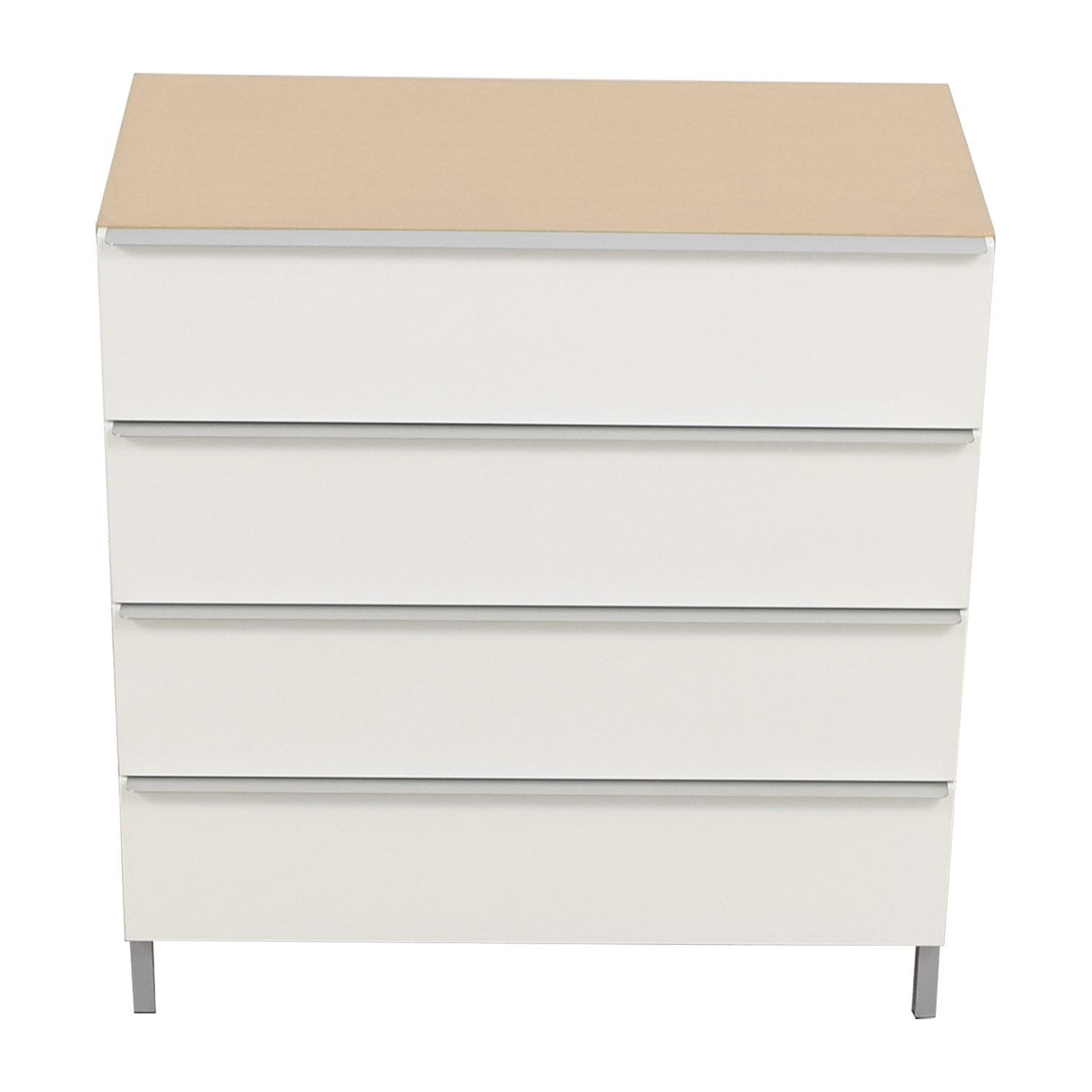 White and Tan Four-Drawer Chest of Drawers coupon
