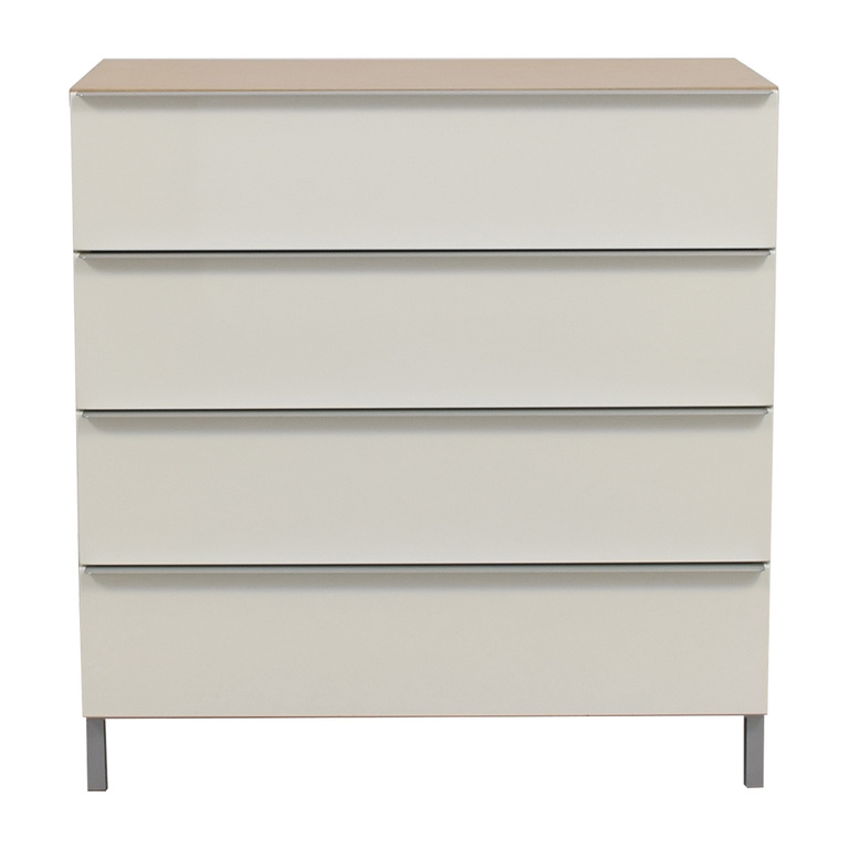 White and Tan Four-Drawer Chest of Drawers price