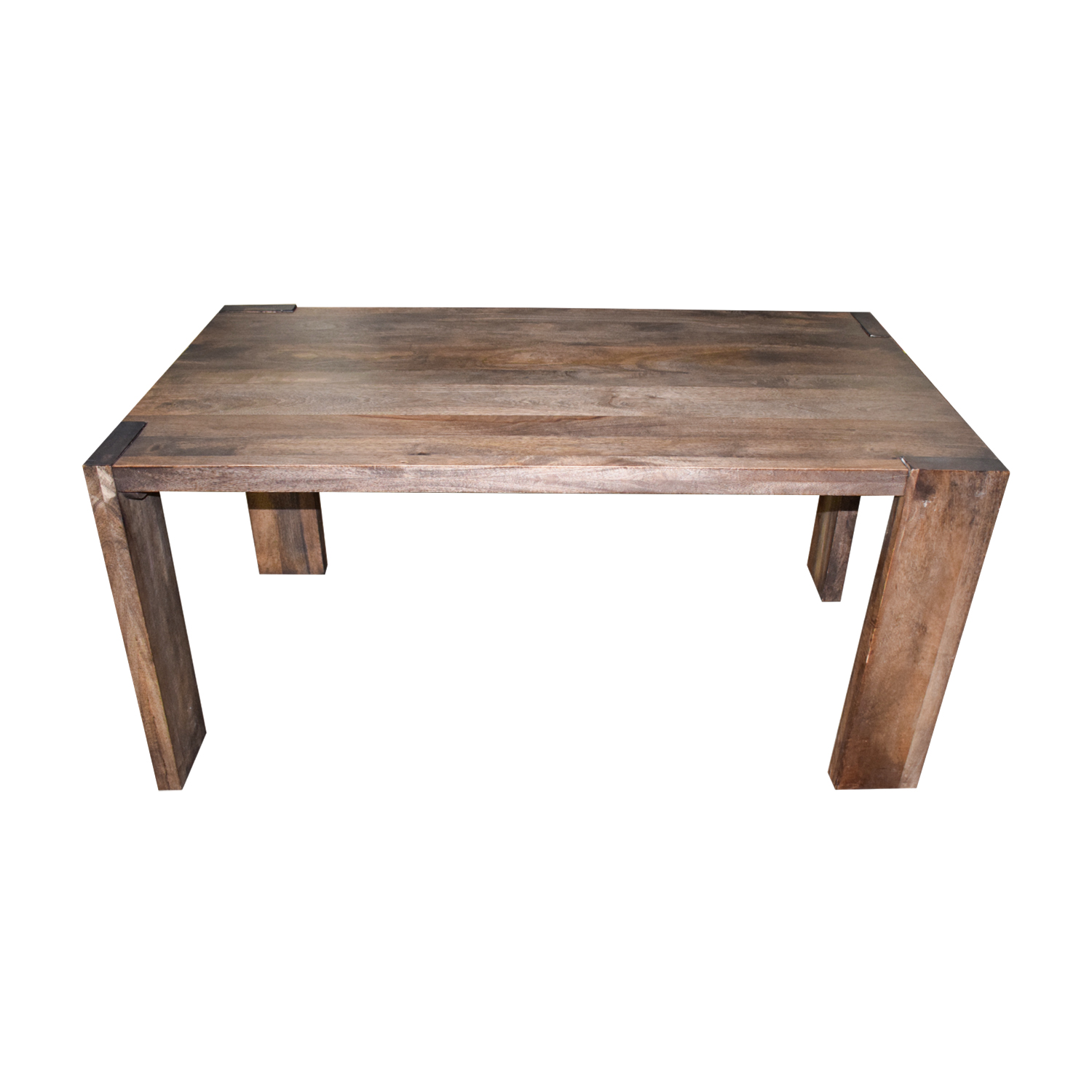 CB2 CB2 Rustic Wood Dining Table nyc