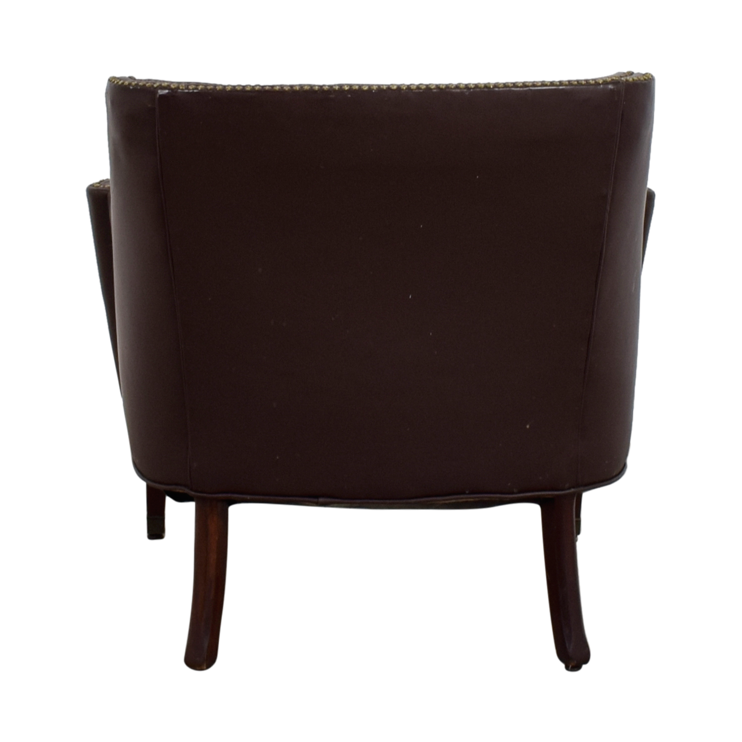 Pier 1 Imports Pier 1 Imports Brown Leather Nailhead Side Chair Chairs