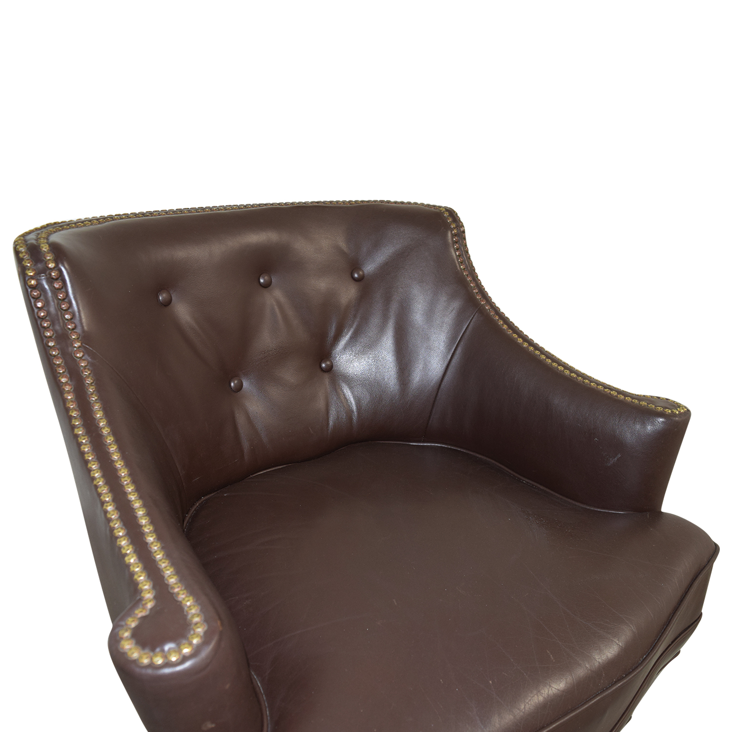 70% OFF - Pier 1 Imports Pier 1 Imports Brown Leather ...
