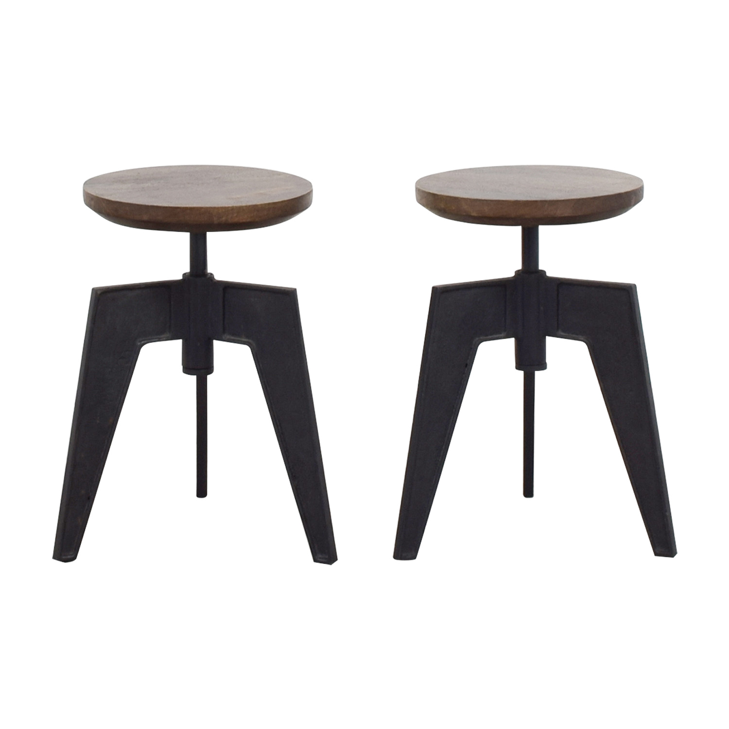 CB2 CB2 Wood and Metal Stools discount