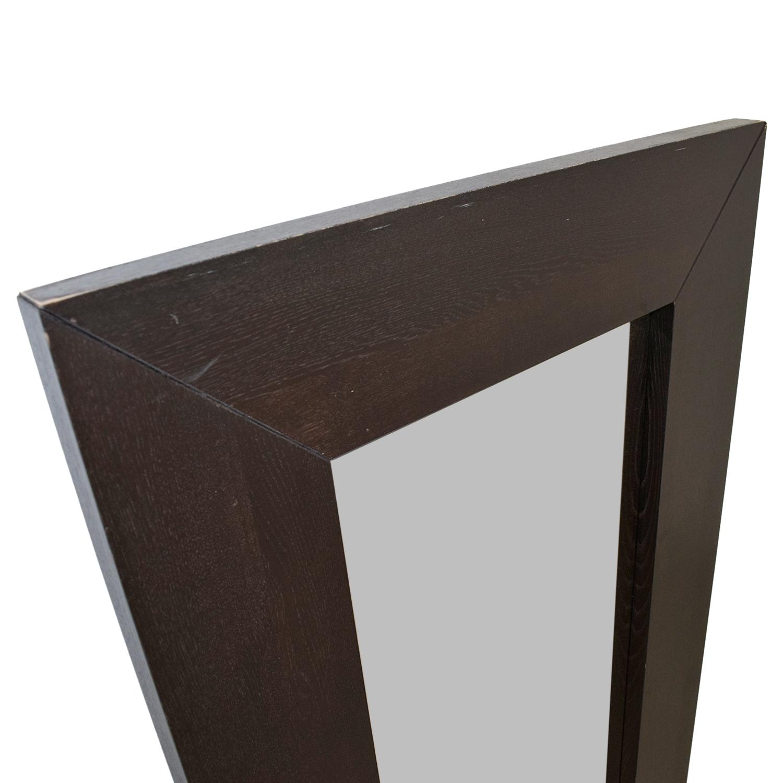 52% OFF - Crate & Barrel Crate & Barrel Floor Mirror / Decor