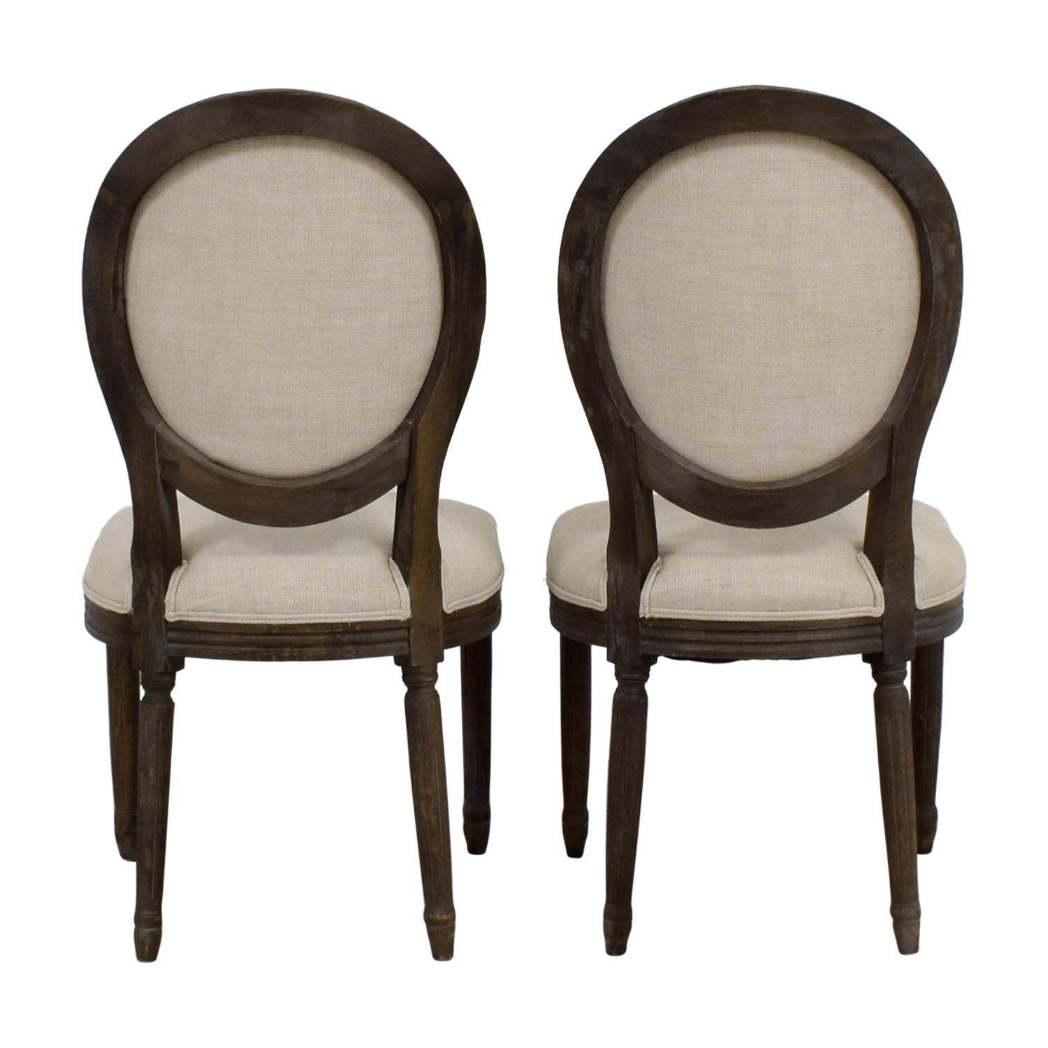 shop Restoration Hardware Beige Dining Chairs Restoration Hardware Chairs