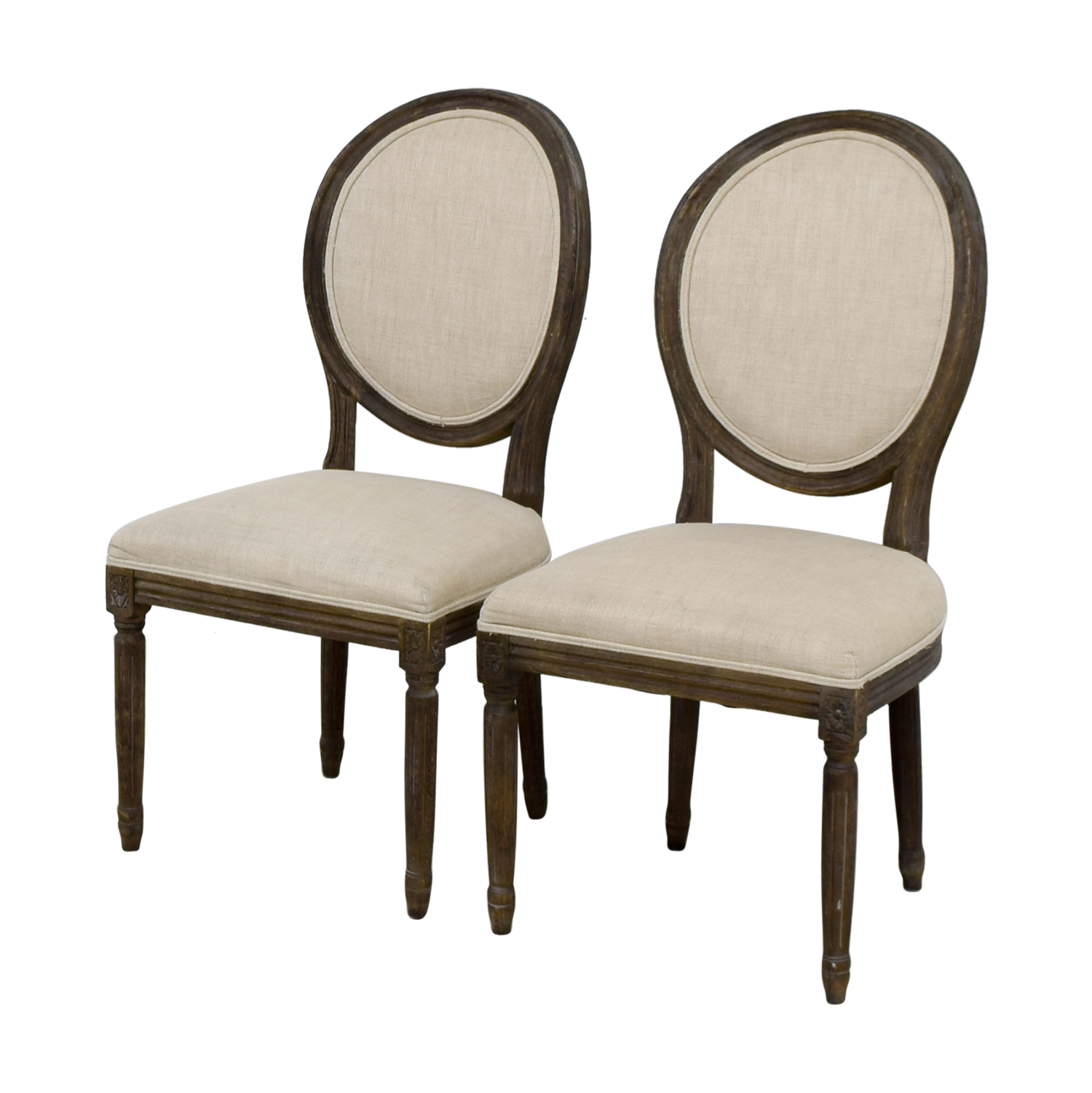 77 Off Restoration Hardware Restoration Hardware Beige Dining Chairs Chairs