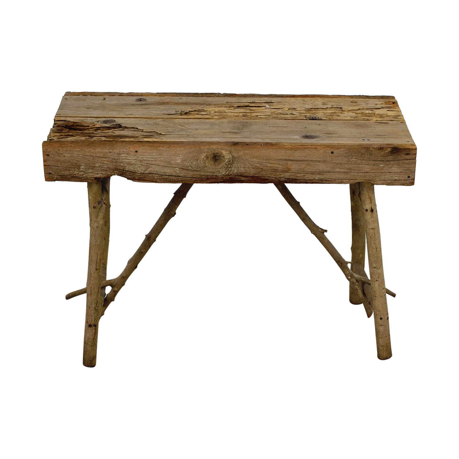 Pier 1 Imports Pier 1 Imports Rustic Wood TV Table GREY/Tan Wood
