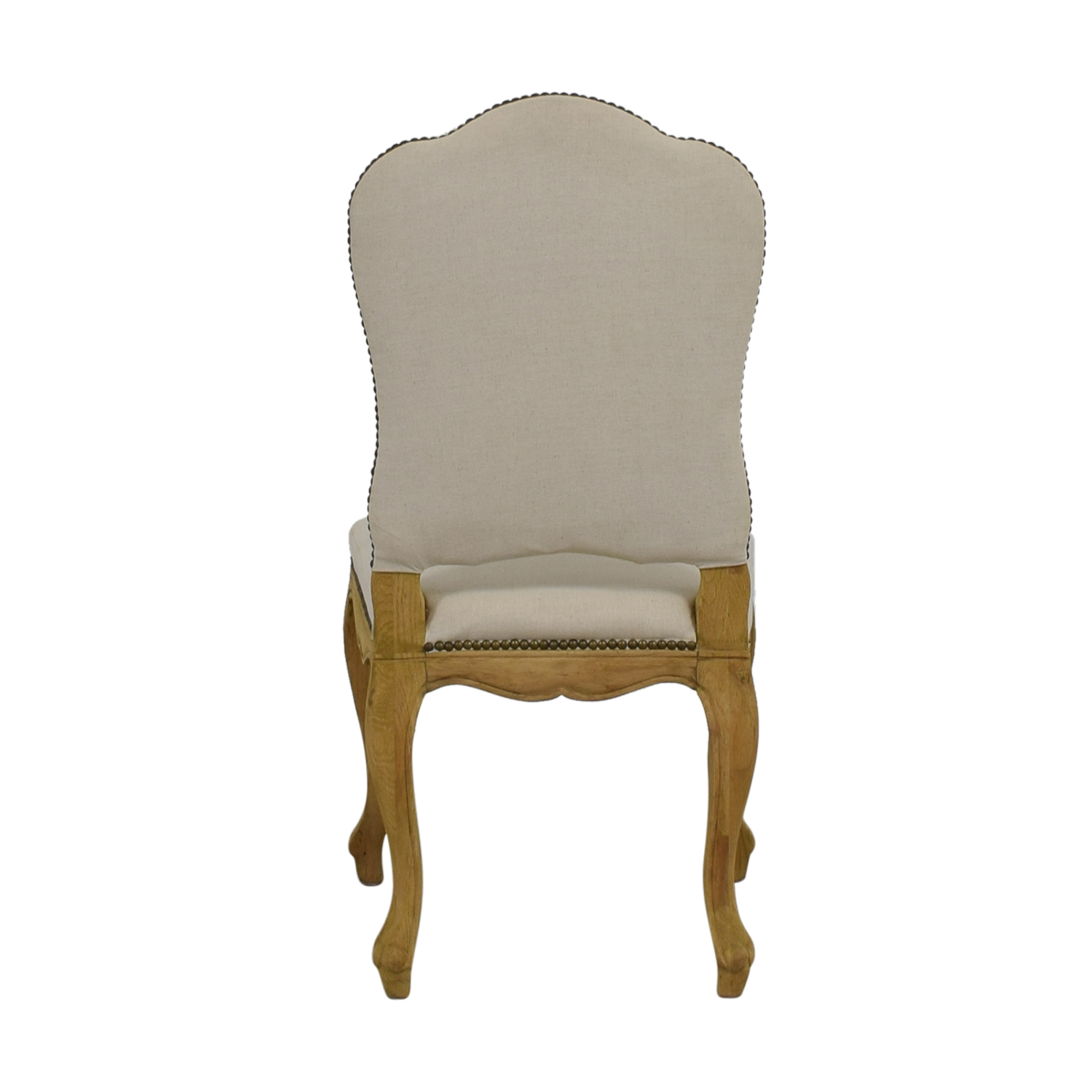 Restoration Hardware Restoration Hardware Beige Nailhead Accent Chair for sale