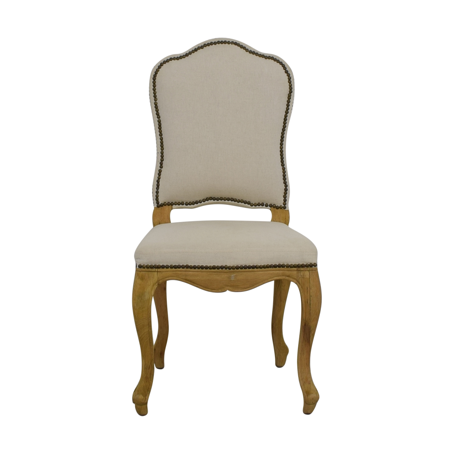 Restoration Hardware Beige Nailhead Accent Chair / Chairs