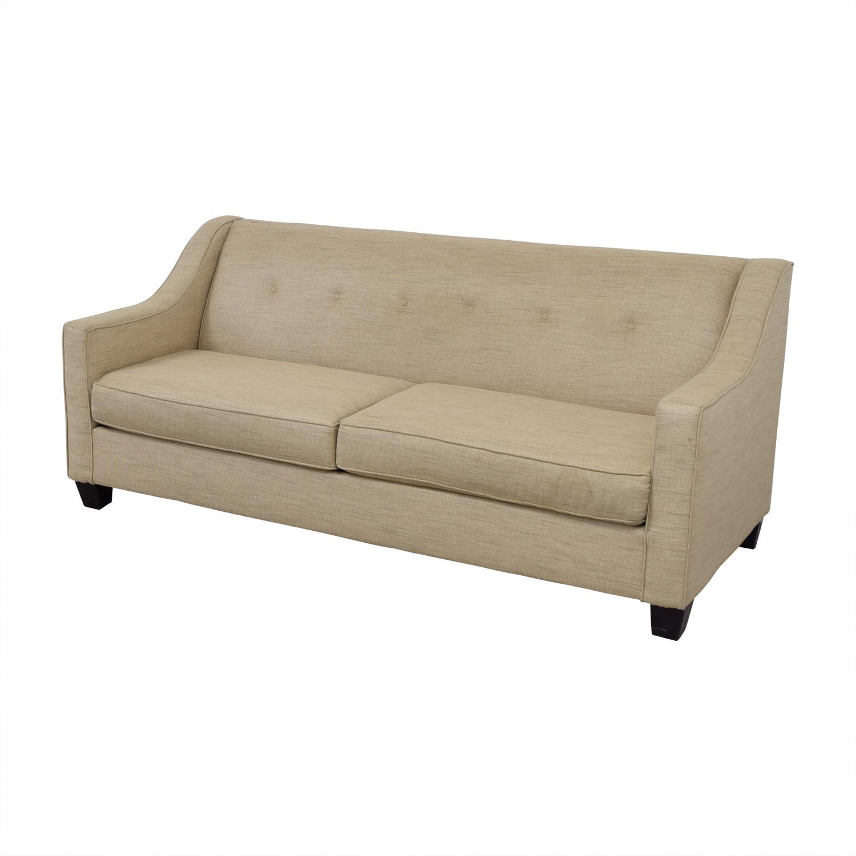 75 Off Bob S Furniture Bob S Furniture Beige Tufted