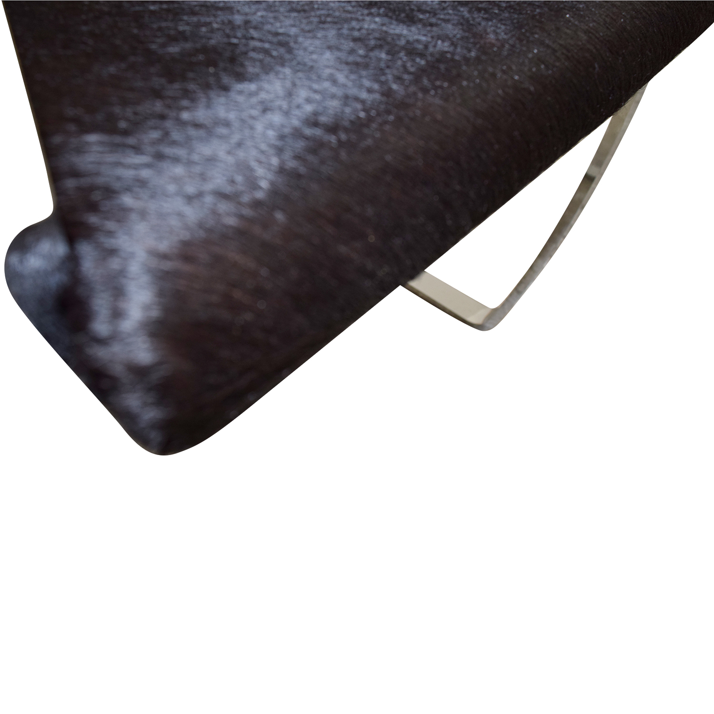 shop Soho Concept Furniture Soho Concept Furniture Black Pony Skin Accent Chair online