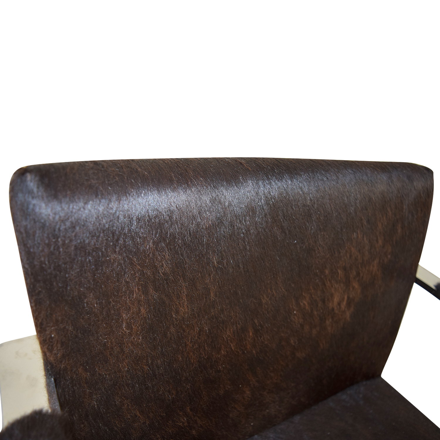 Soho Concept Furniture Soho Concept Furniture Black Pony Skin Accent Chair Brown/Sliver
