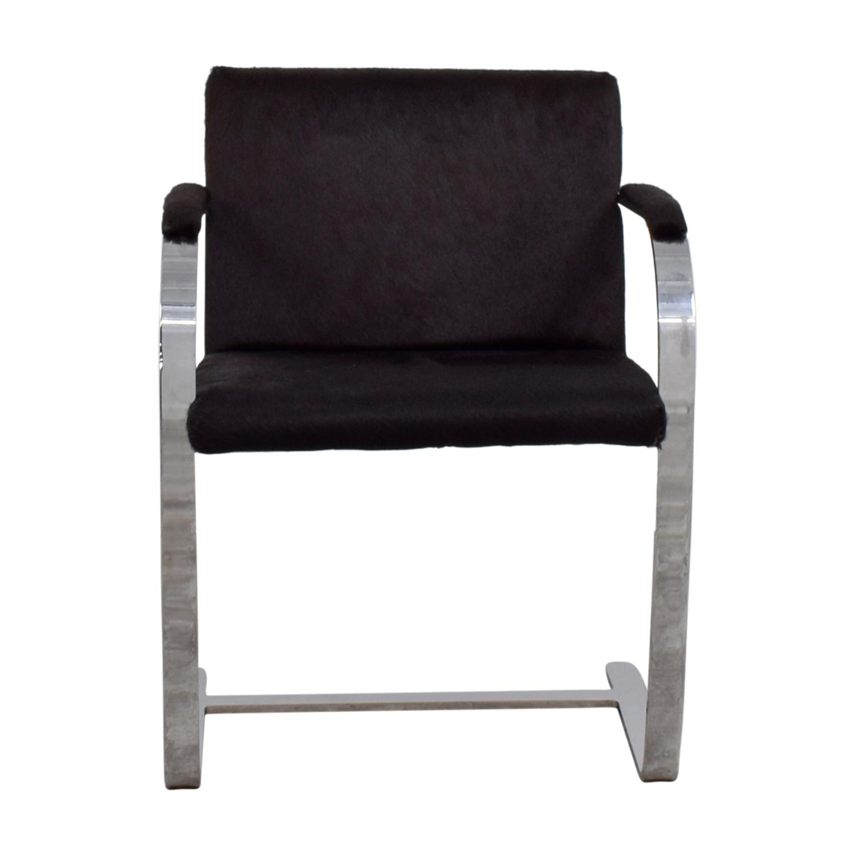 shop Soho Concept Furniture Black Pony Skin Accent Chair Soho Concept Furniture