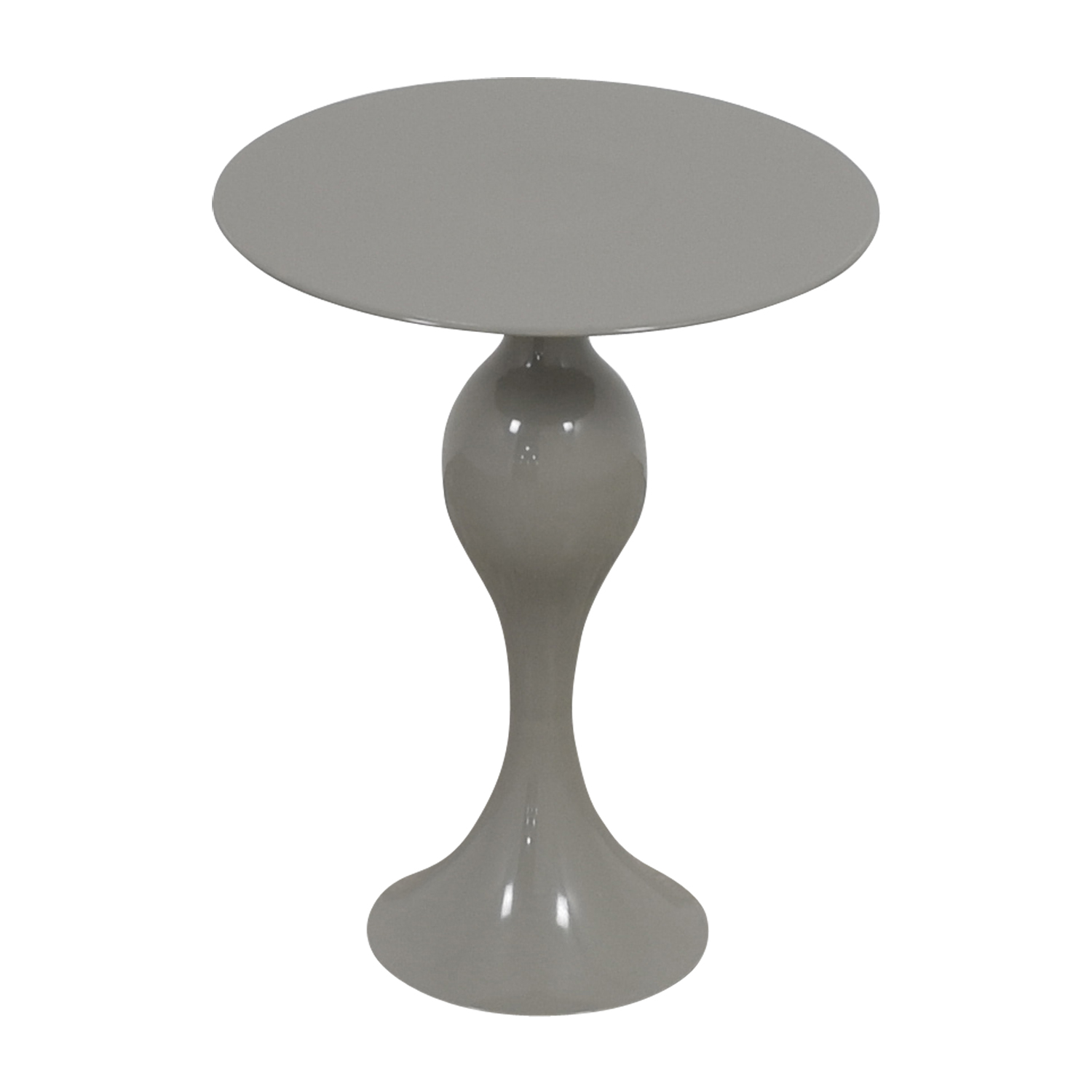 West Elm West Elm Gray Round End Table second hand