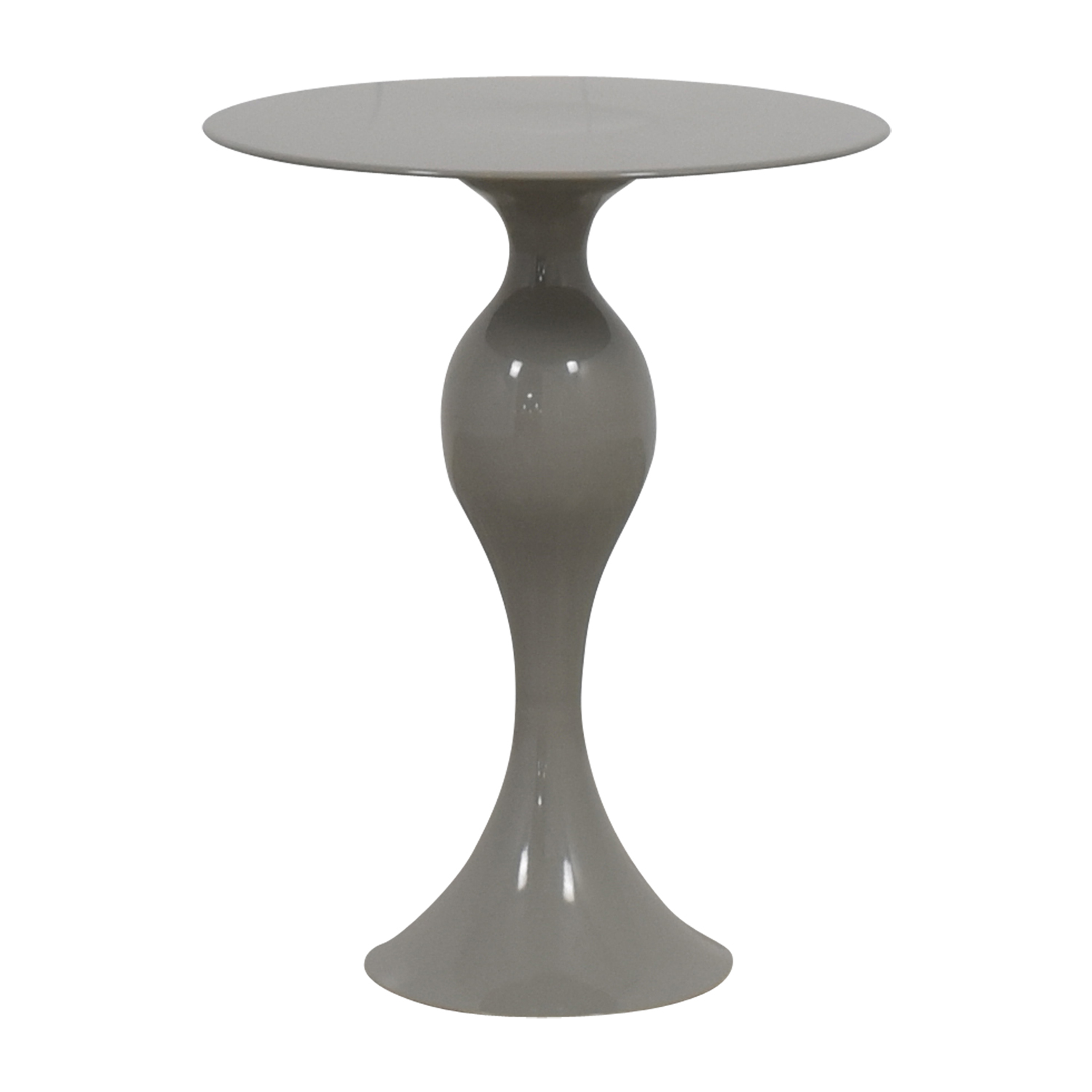 shop West Elm Gray Round End Table West Elm