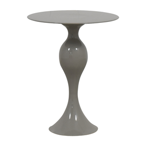 West Elm West Elm Gray Round End Table discount