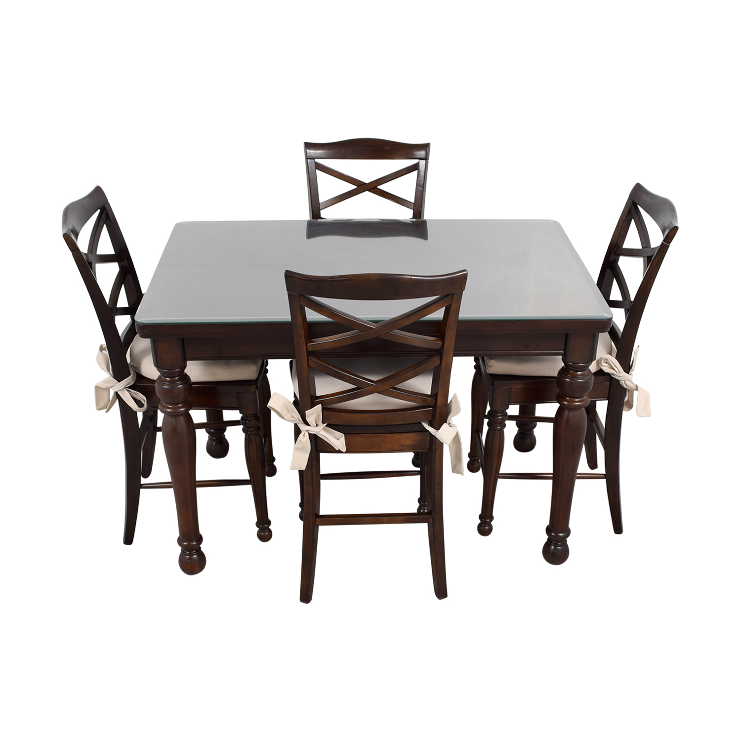 Dark Wood Dining Set: Ashley Furniture Ashley Furniture Dark Wood